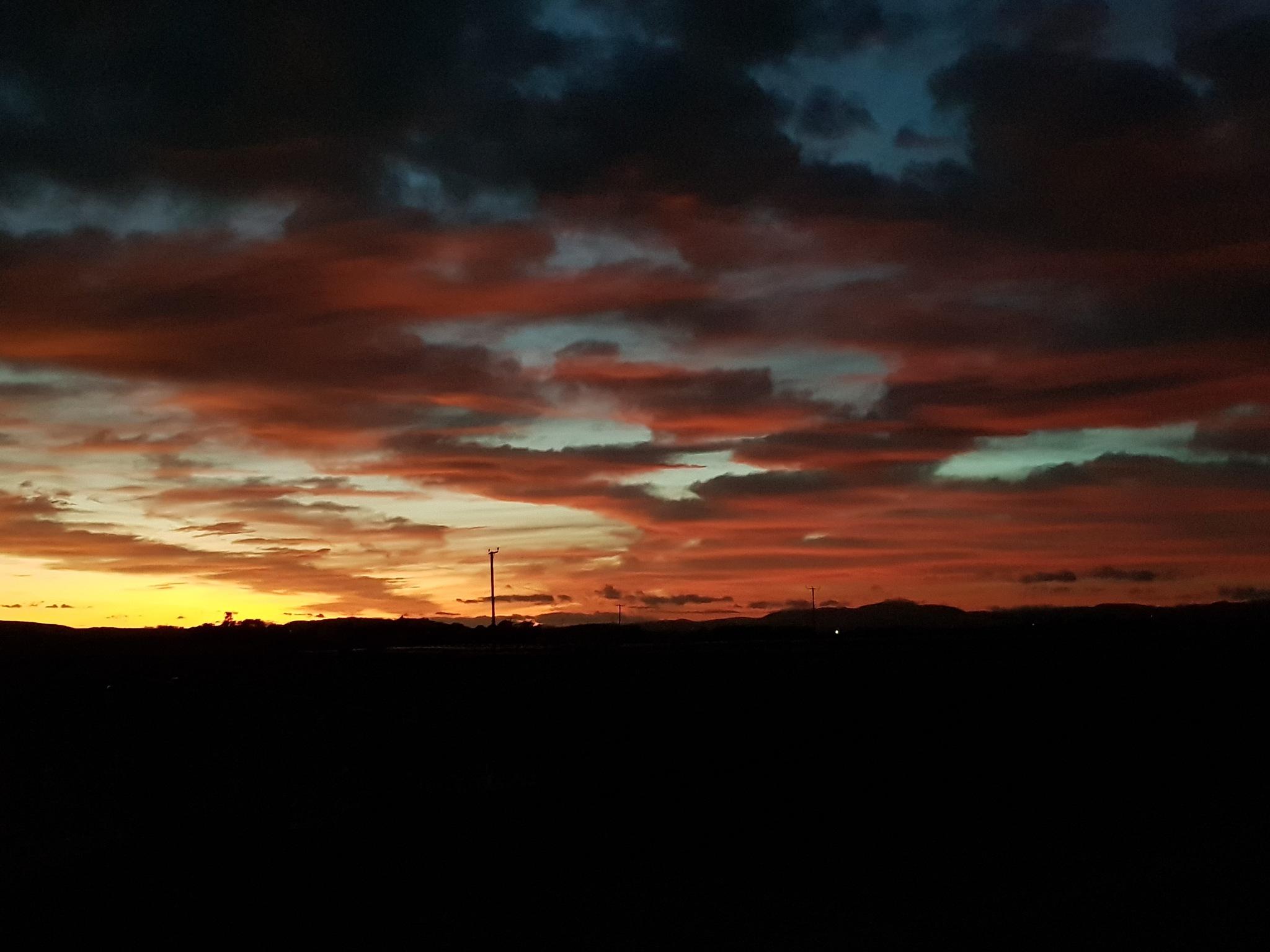 Autumn sunset  by KL