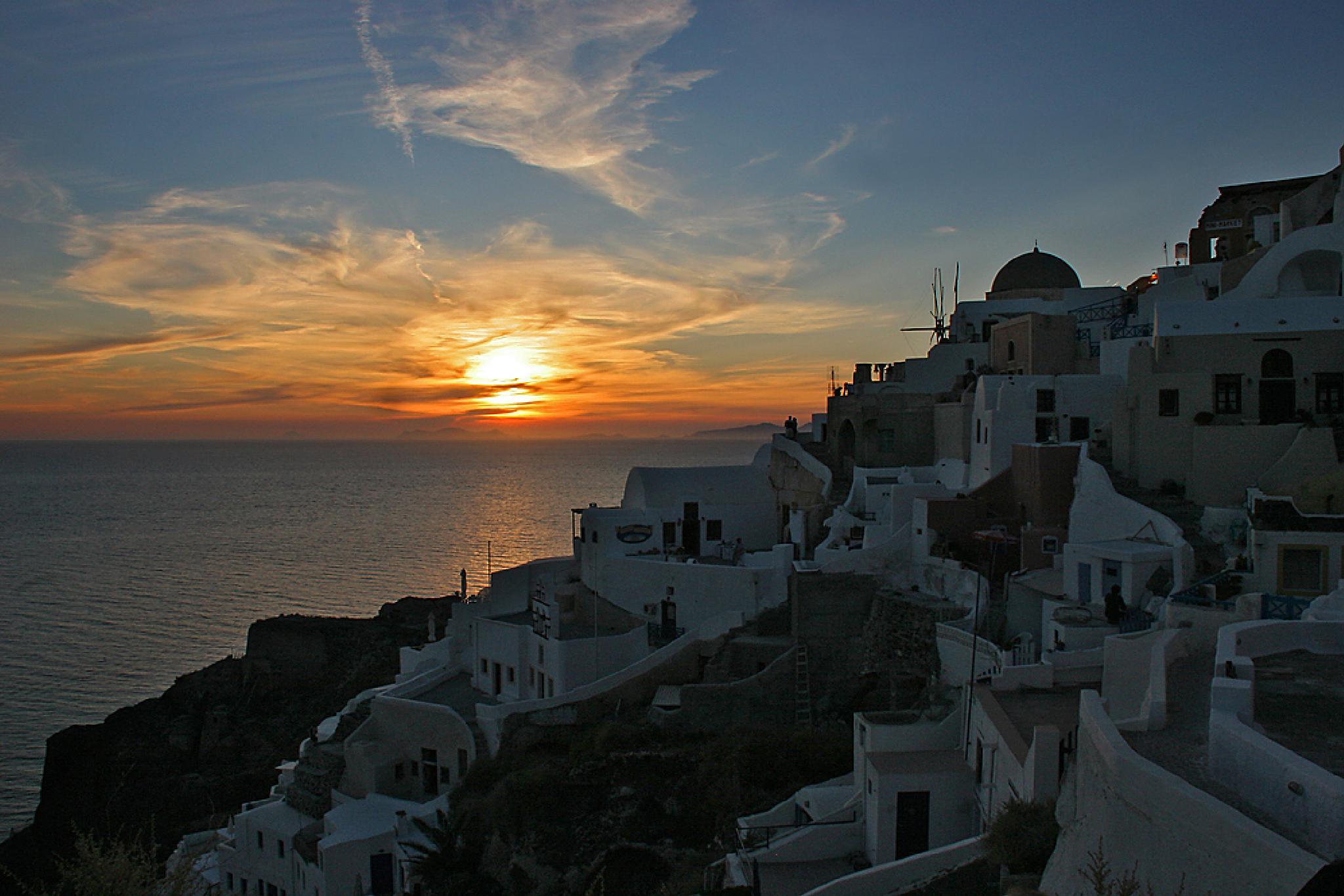 Photo in Sea and Sand #santorinia #greece #sunset