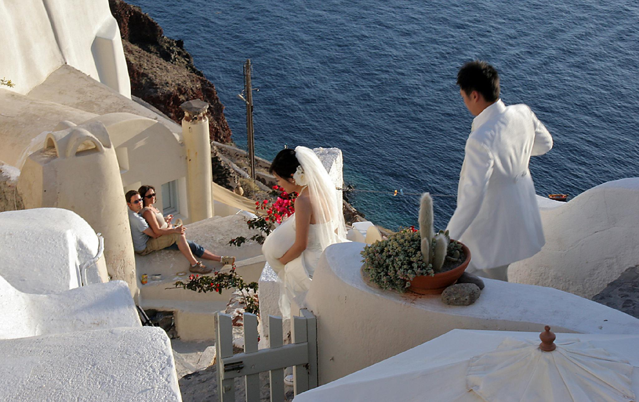 Photo in Portrait #wedding #santorini