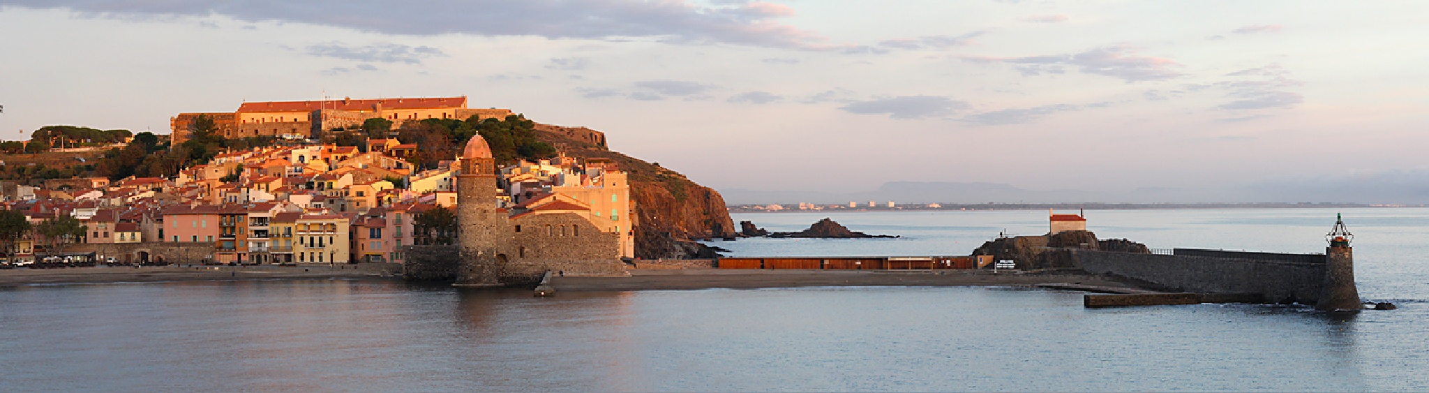 Collioure - Morning Panorama by Carl Main