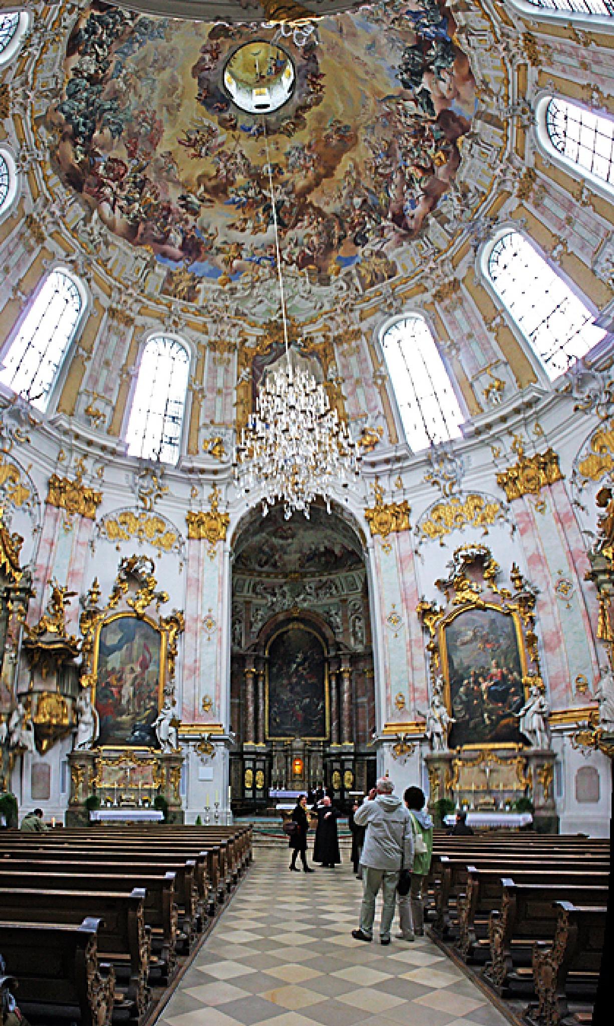 Ettal Monastery - Interior by Carl Main