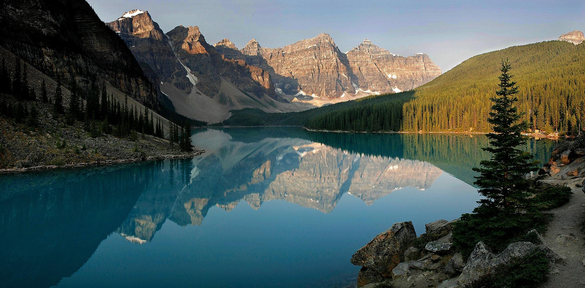 Moraine Lake Panorama by Carl Main