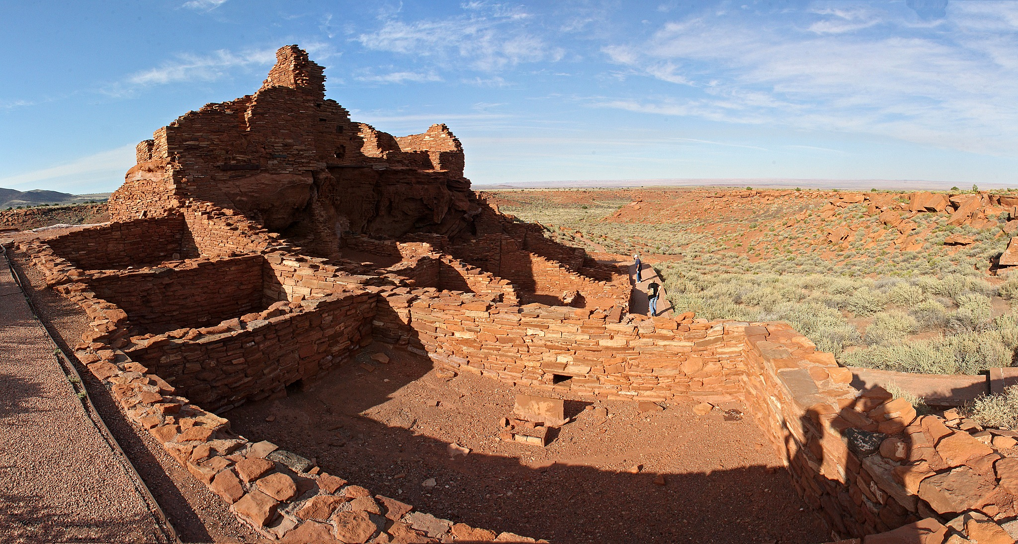 Wupatki Pueblo Panorama by Carl Main