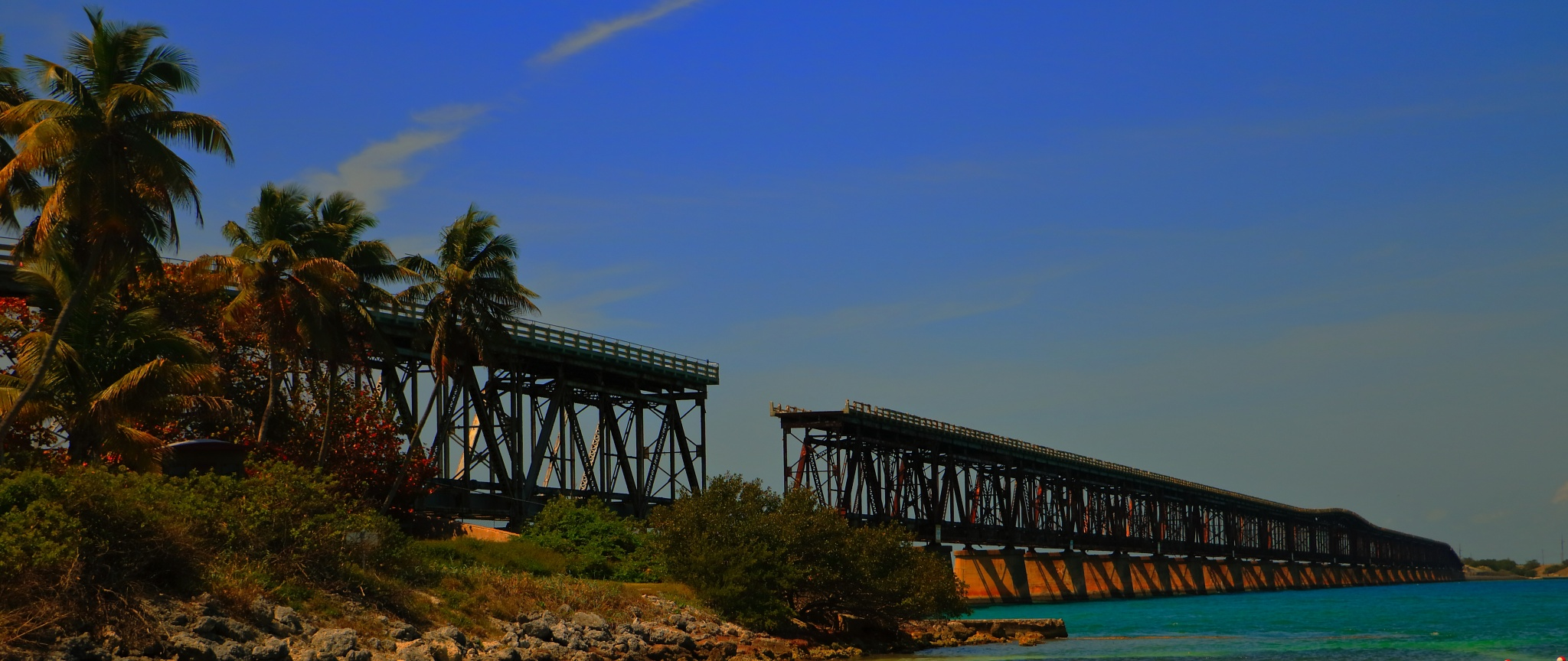 The Bahia Honda Bridge by Mark Drais