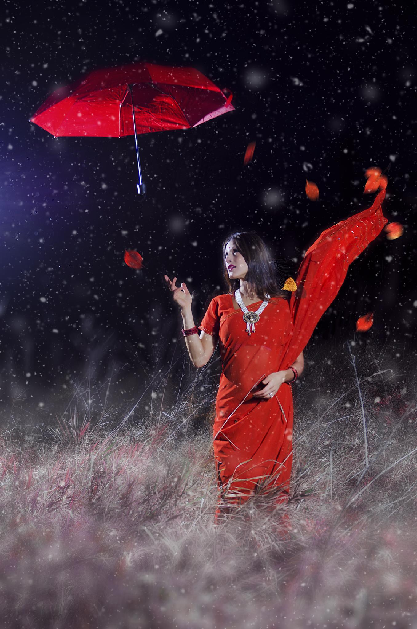 Music of Autumn: The Red Umbrella by G Robbani