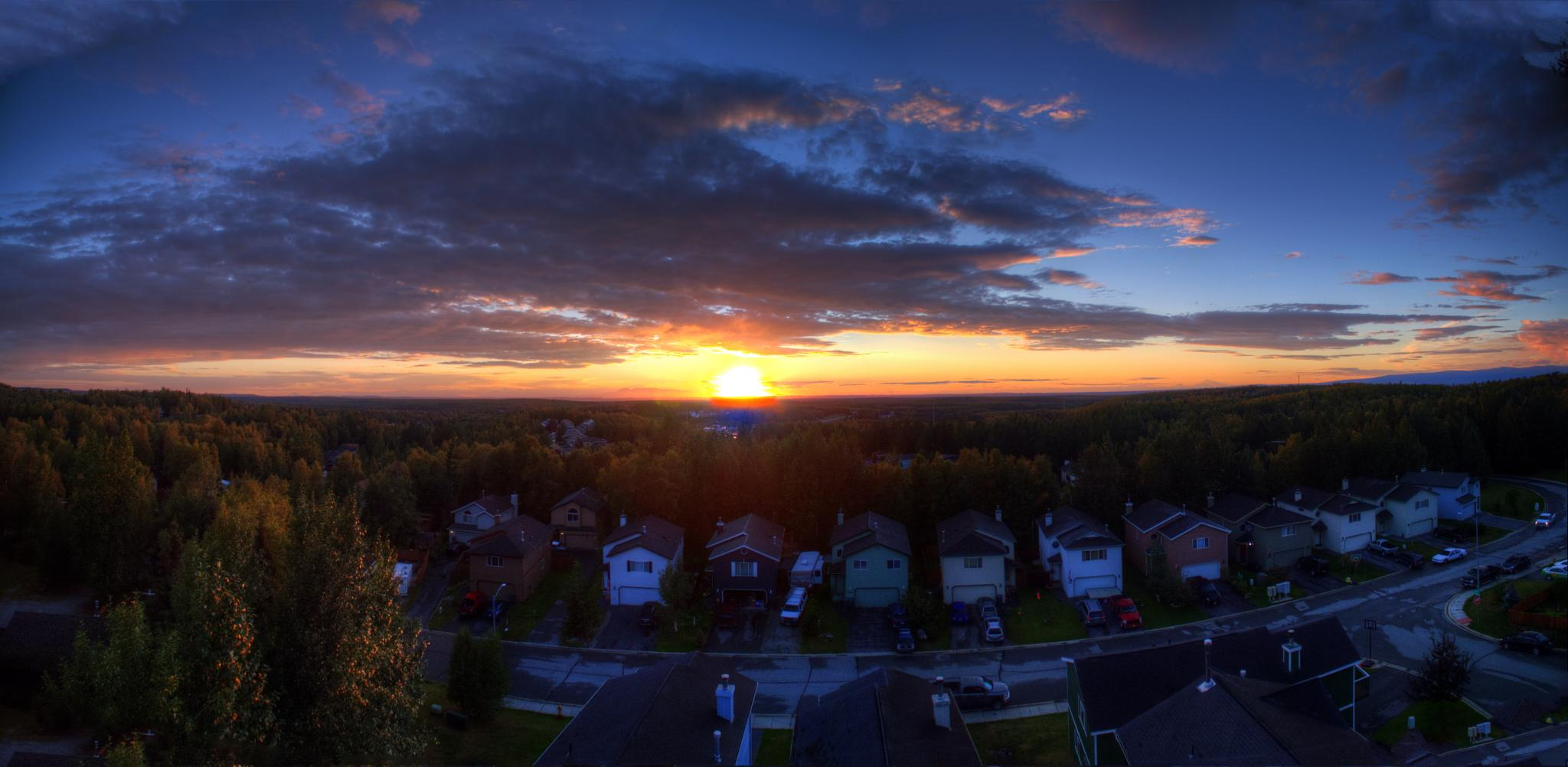 Sun Set Pano by Charles Sather