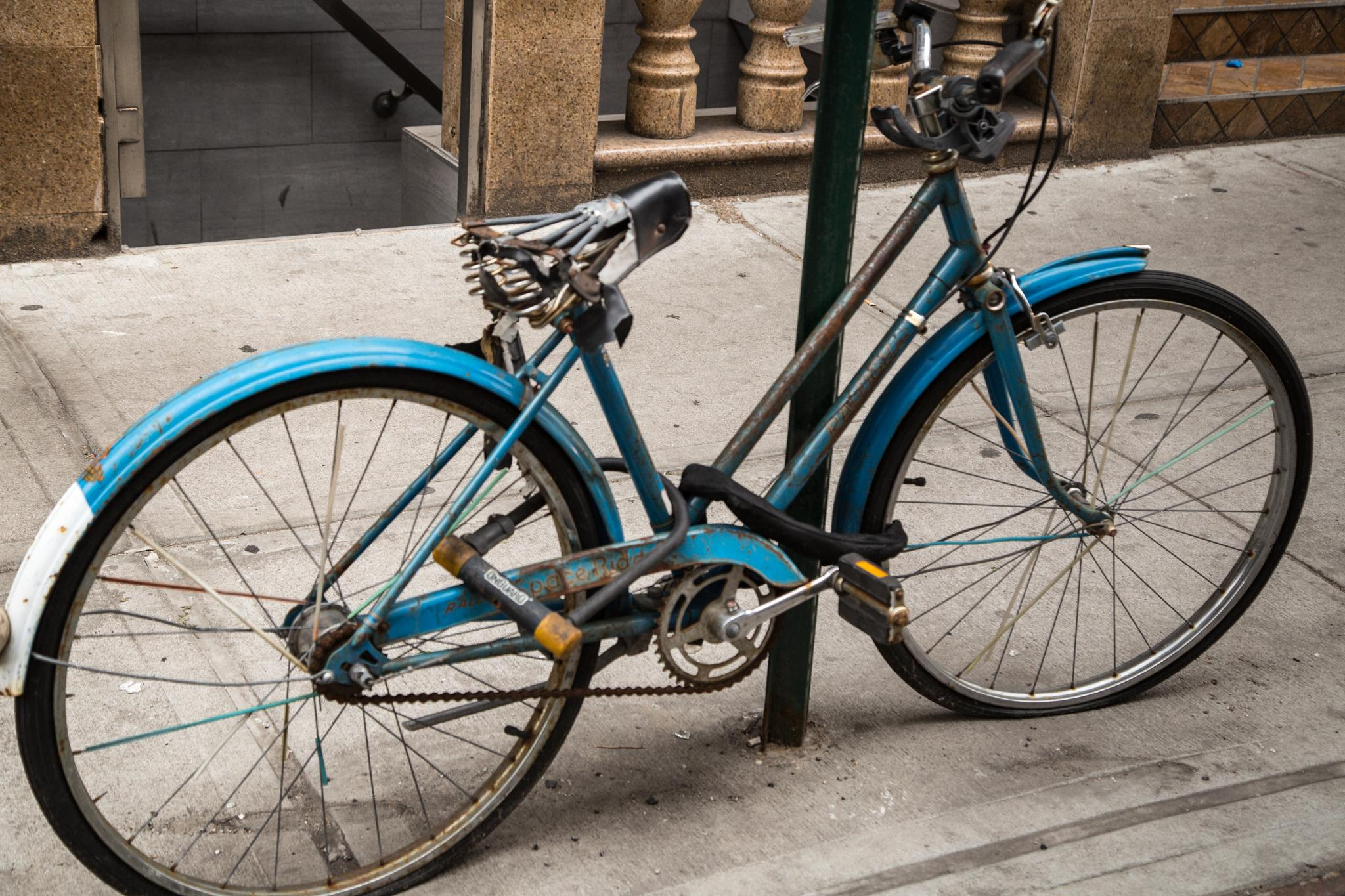 classic bicycle in chinatown by Mazzie Ito