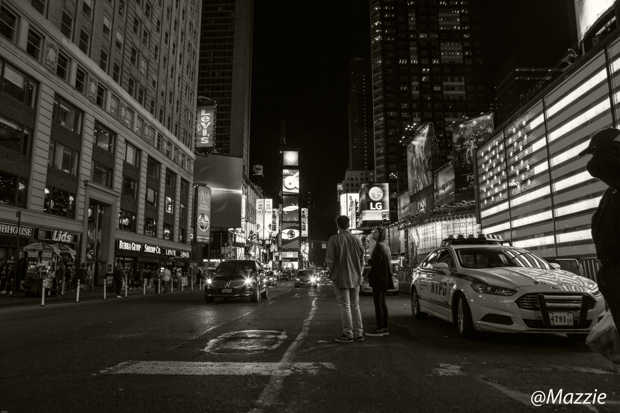 Times Square ,NYC by Mazzie Ito