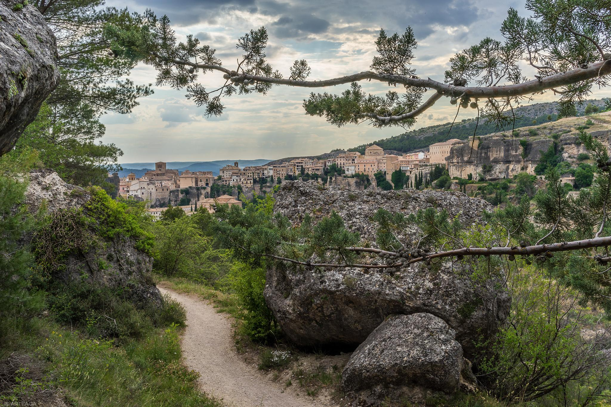 Way to the cave of the bush. Cuenca by arteaga