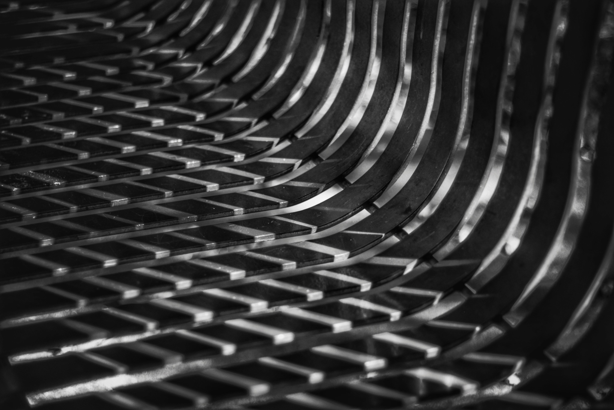 Light Pattern on a Park Bench by Susan Wood