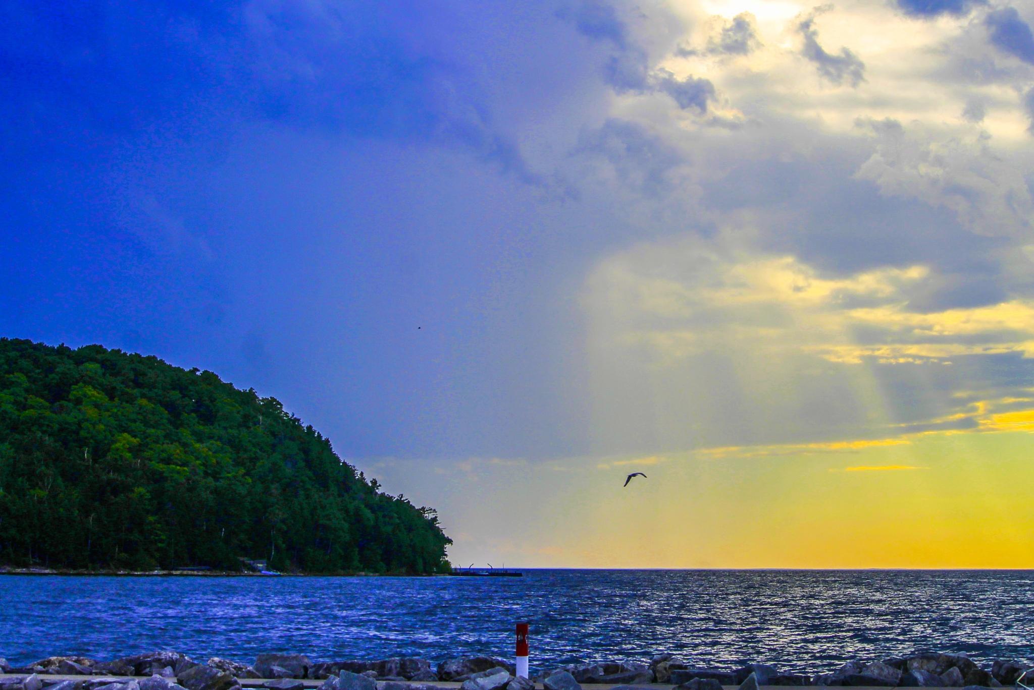 Sister Bay at dusk (hdr) by Mark Hootman