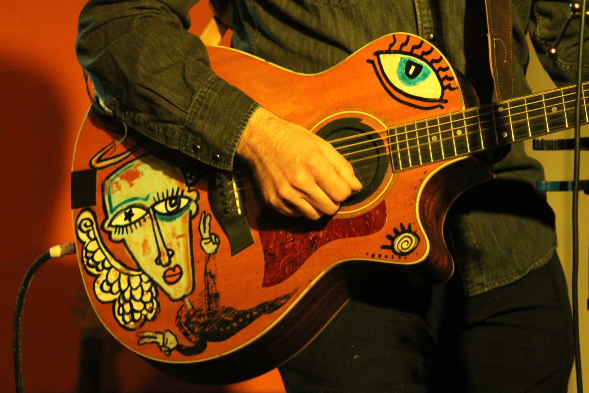 Painted guitar by Mark Hootman