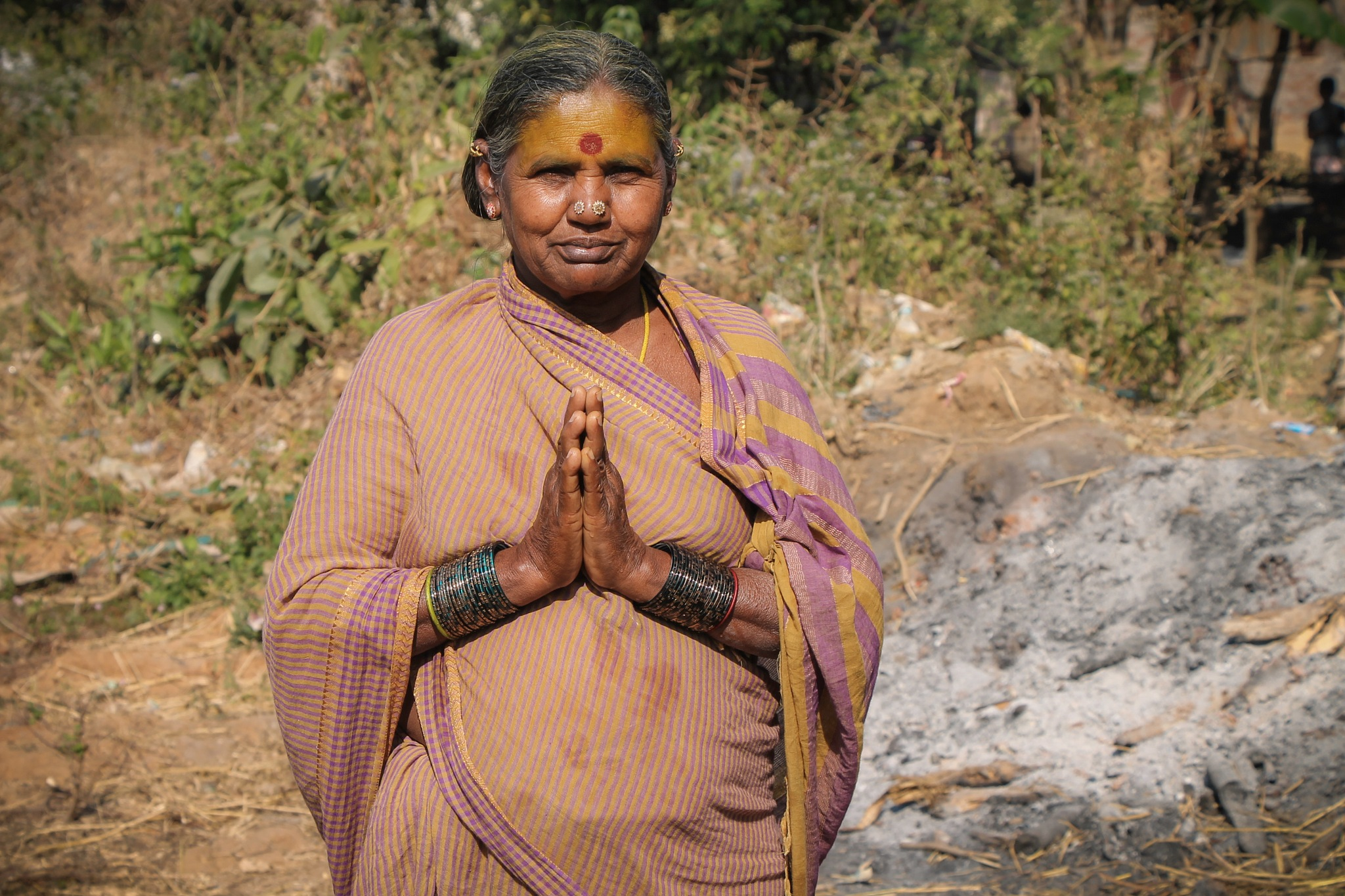 Hindu Grandmother  by Mark Hootman