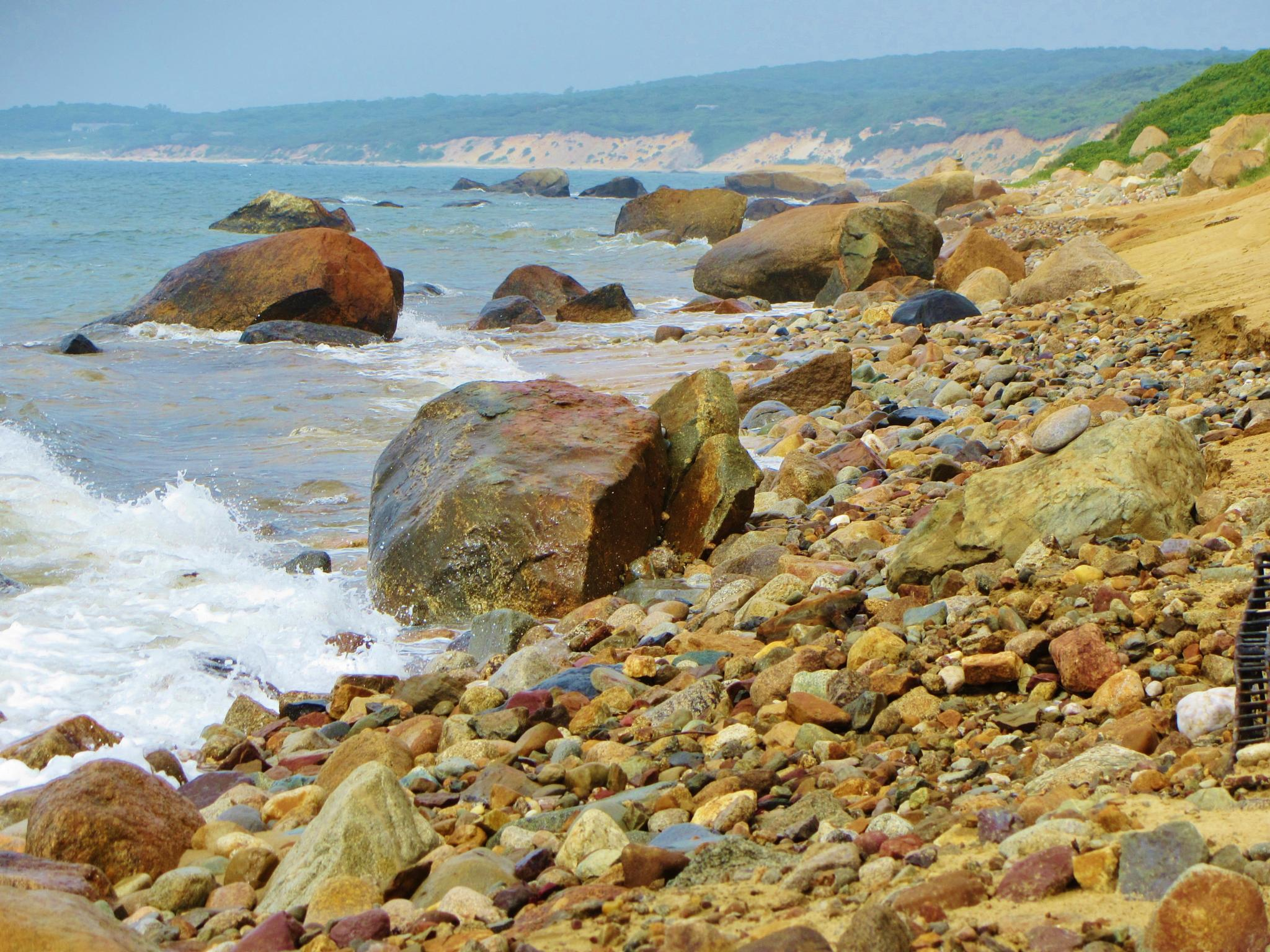 Photo in Sea and Sand #martha's vineyard #coastline #shoreline #beach #beach rocks #rocks