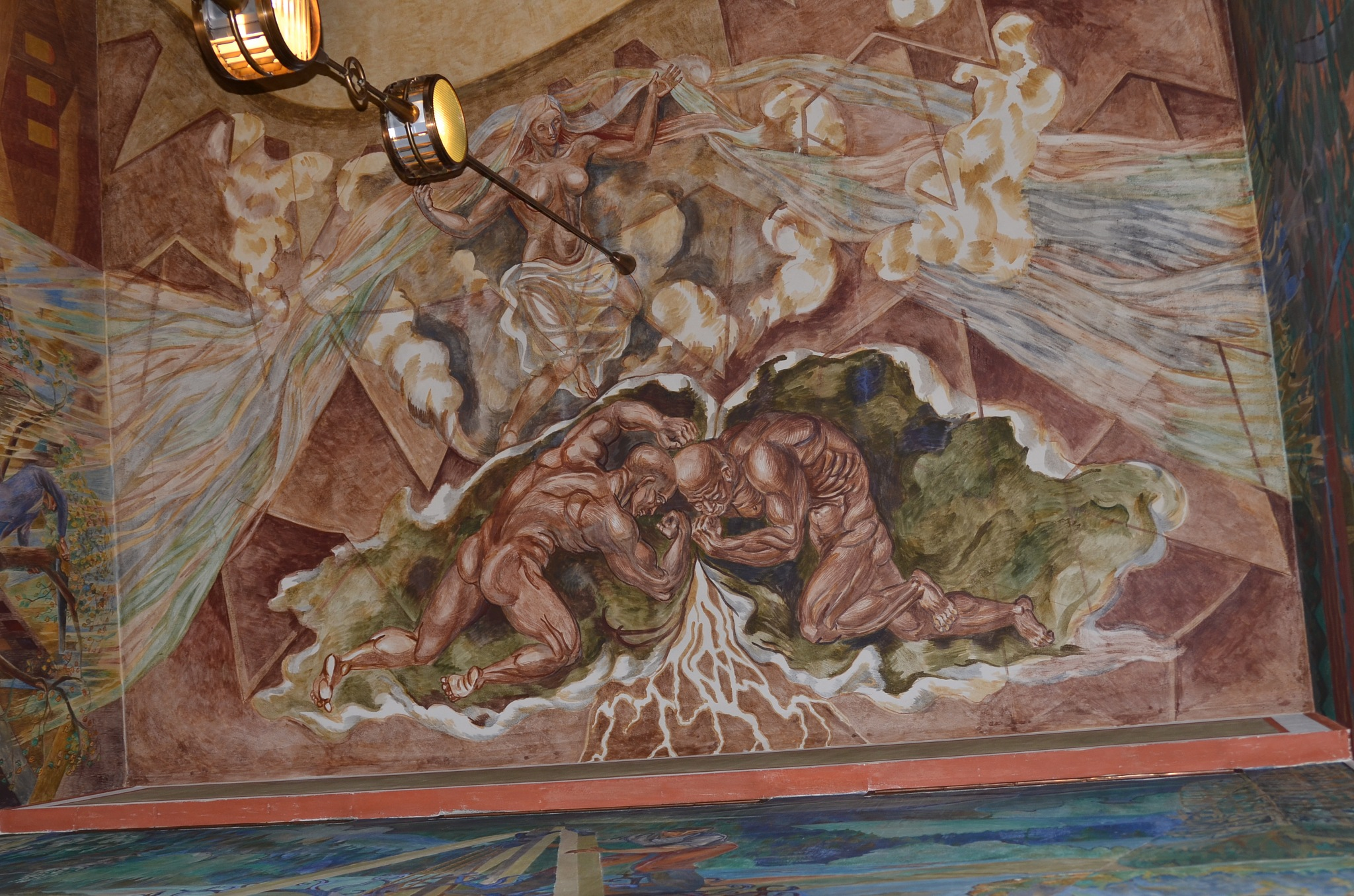 Ceiling decoration in the city hall in Oslo by EsbenDK
