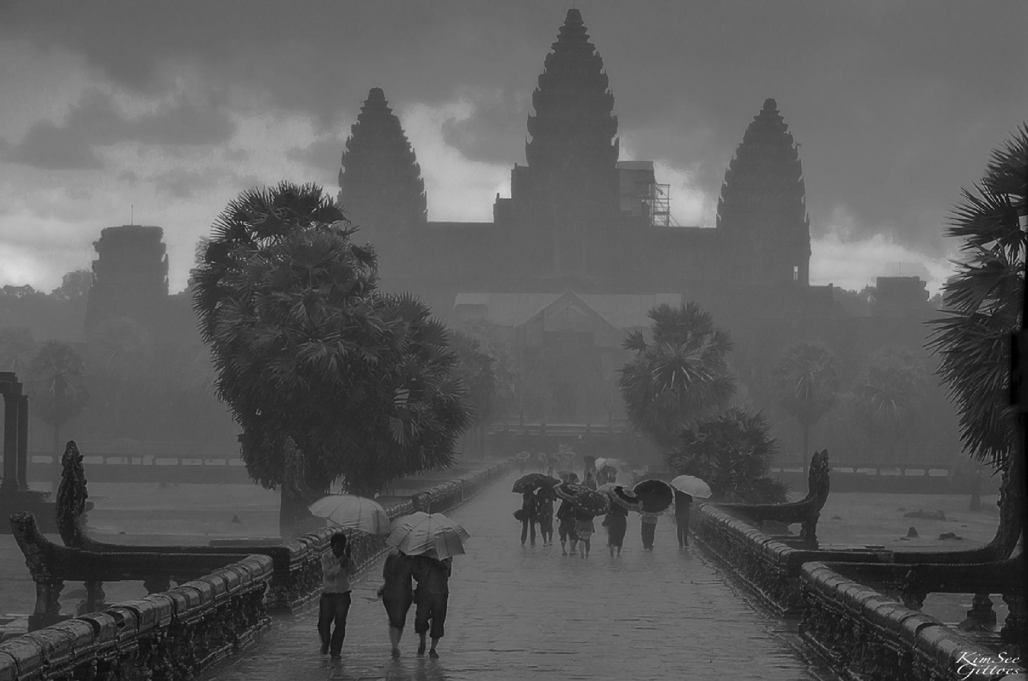 Angkor Wat in the rain by KimSee