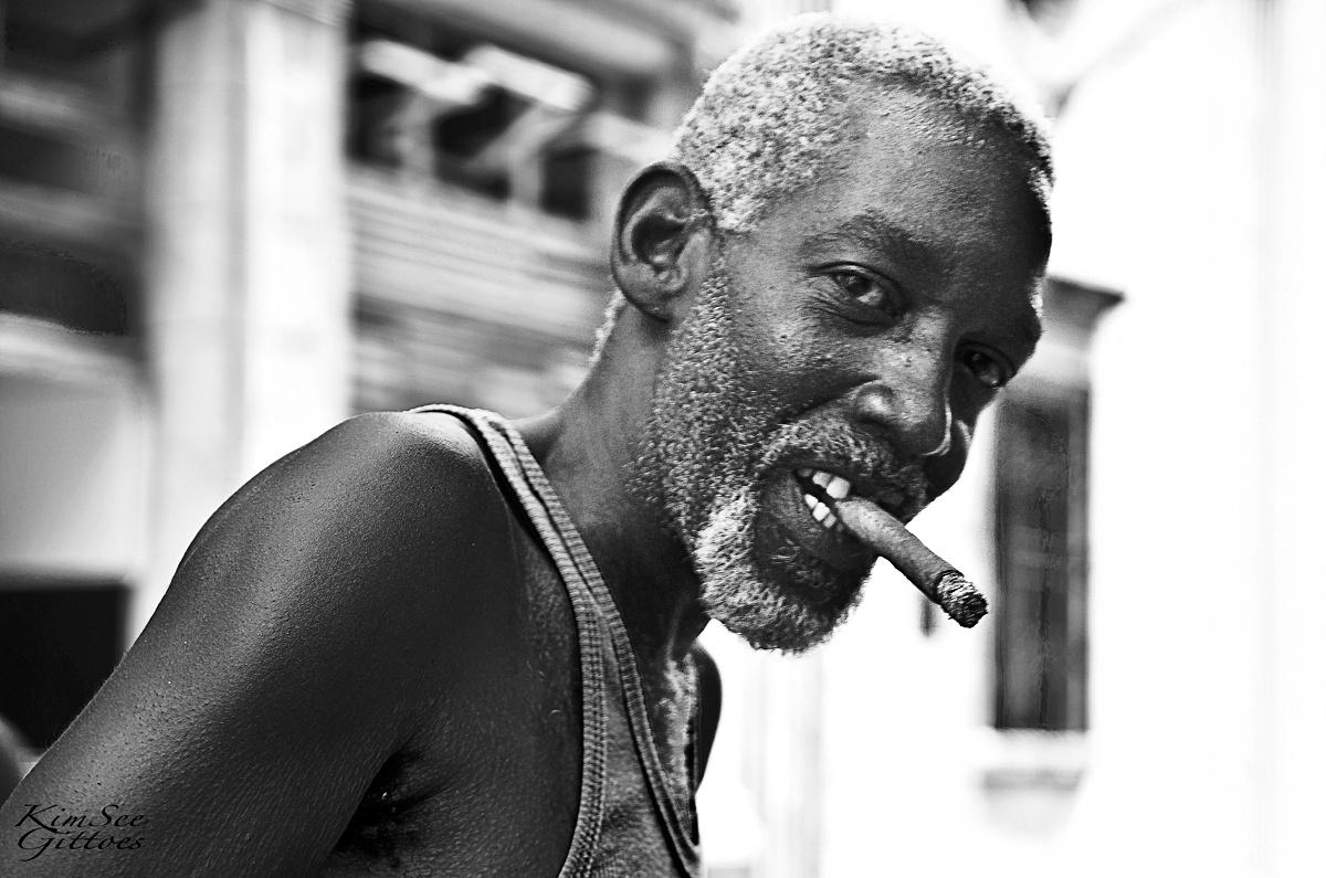 Cuban man and his cigar by KimSee