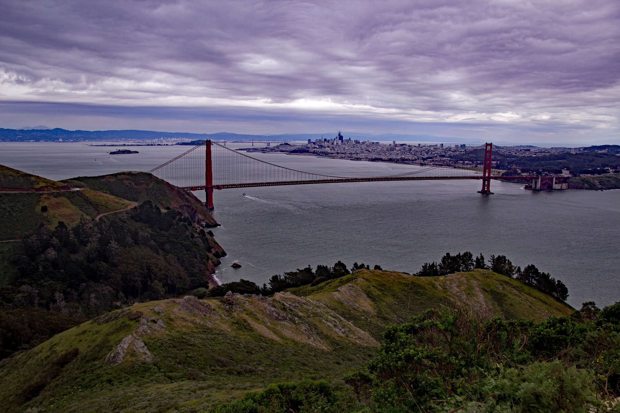 San Francisco on a cloudy day by Mark E. Anderson