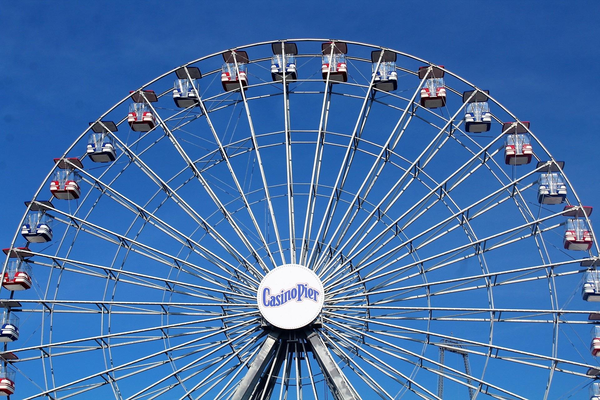 Casino Pier Ferris Wheel by Nancy Lockwood George