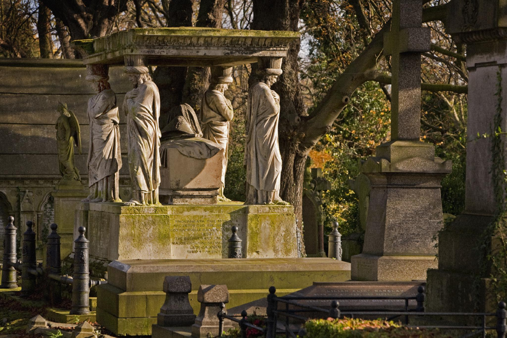 Kensal Green Cemetery in colour. by davehare