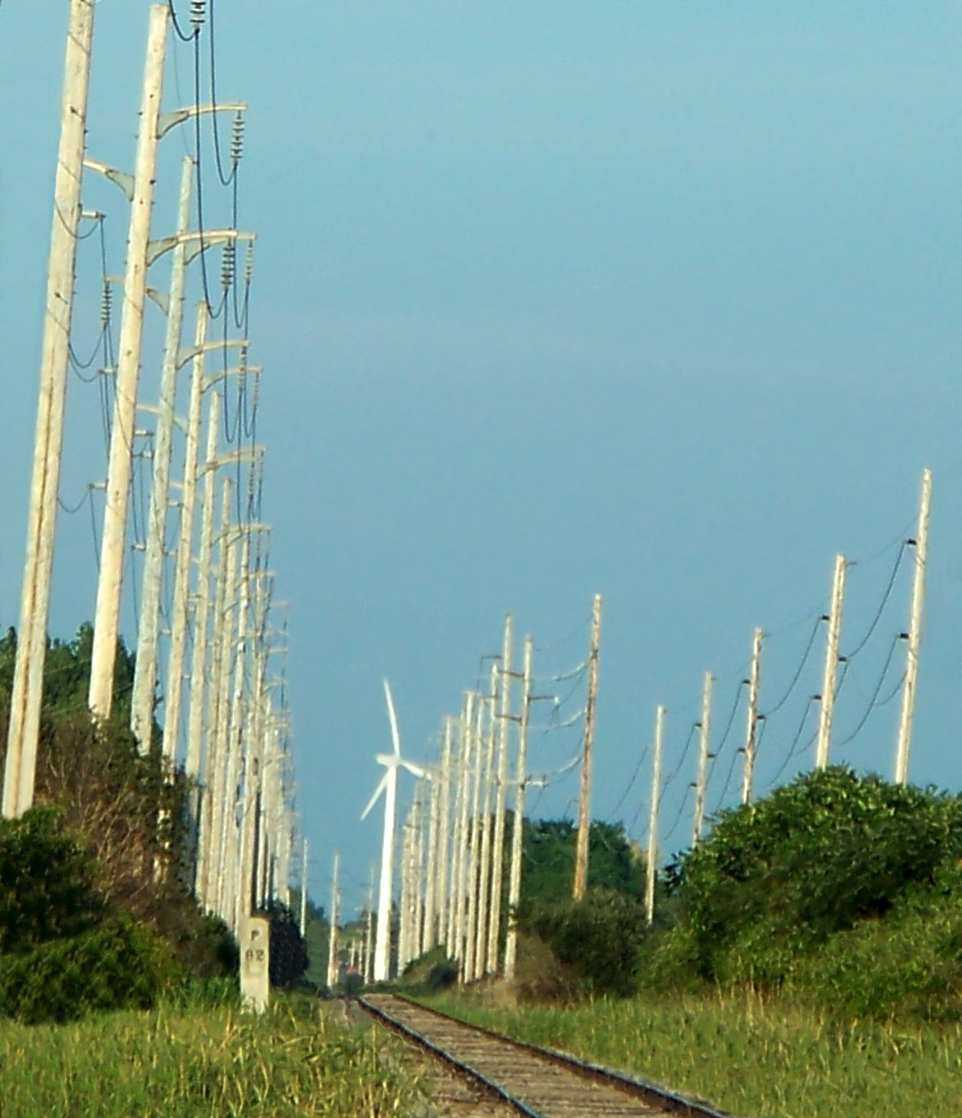 Photo in Random #nature #power lines #windmill #landscape #objects #colors #abstract #random