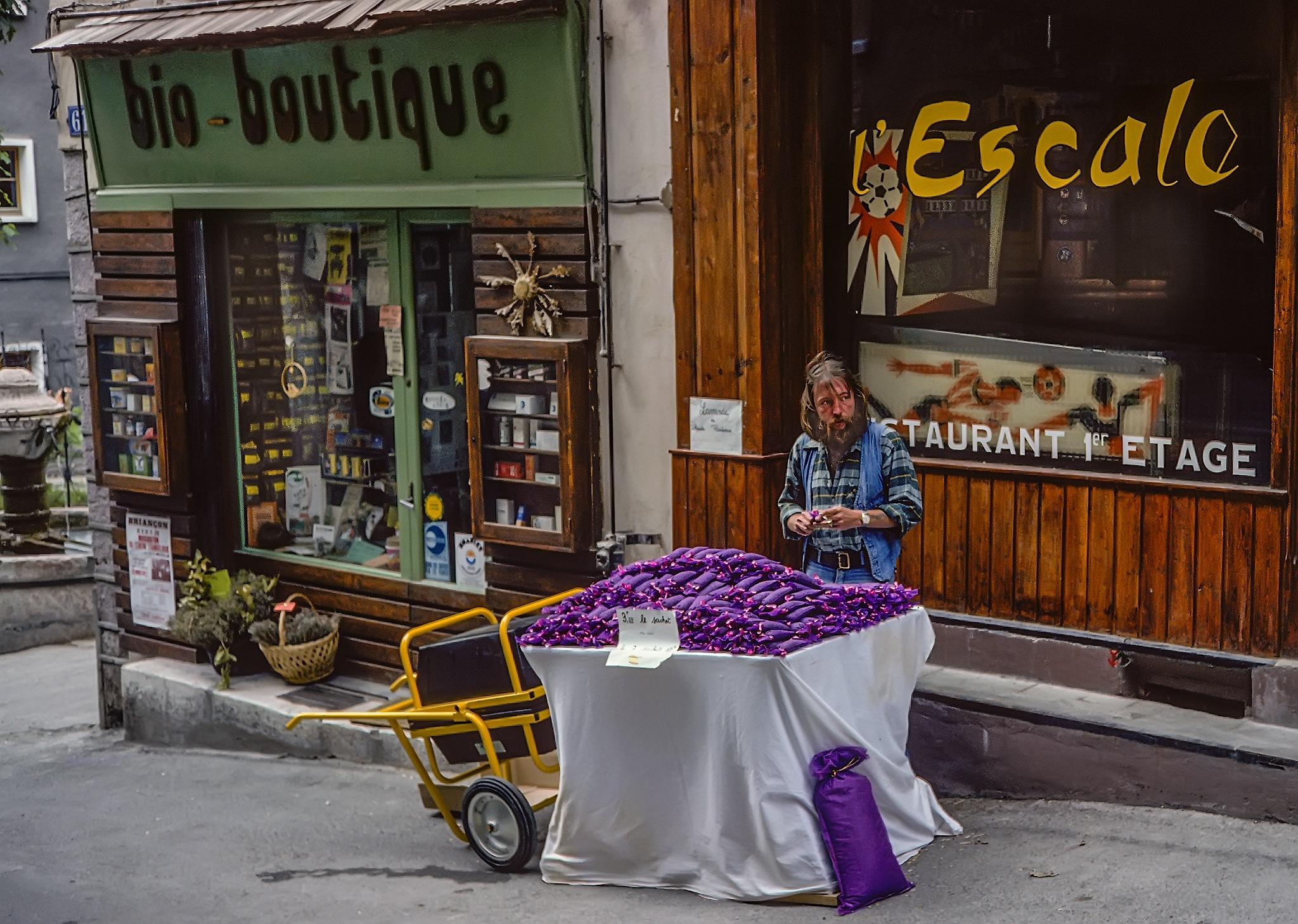 Selling Lavender by Herbert Stachelberger