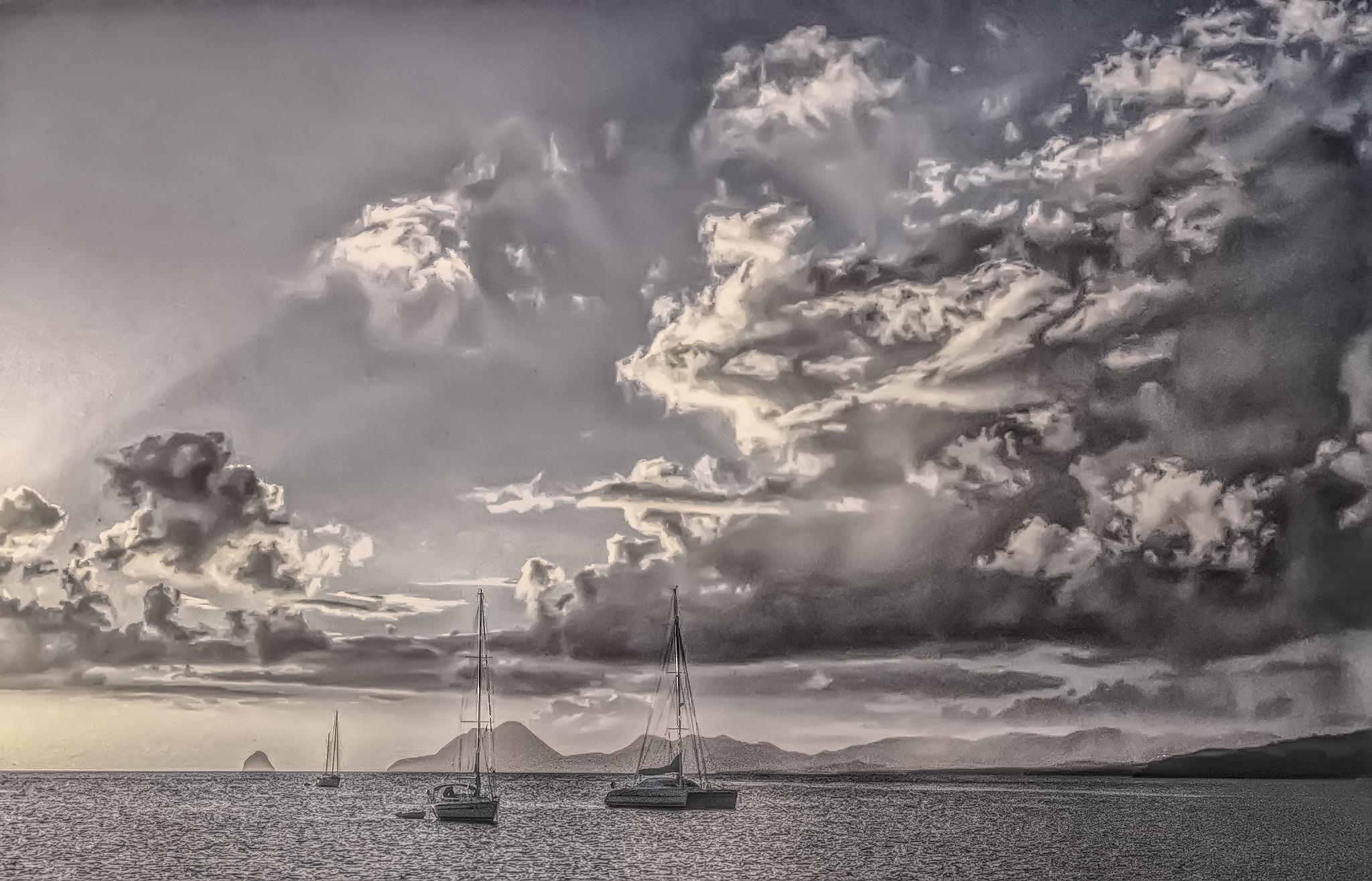 Caribbean Sunset by Herbert Stachelberger