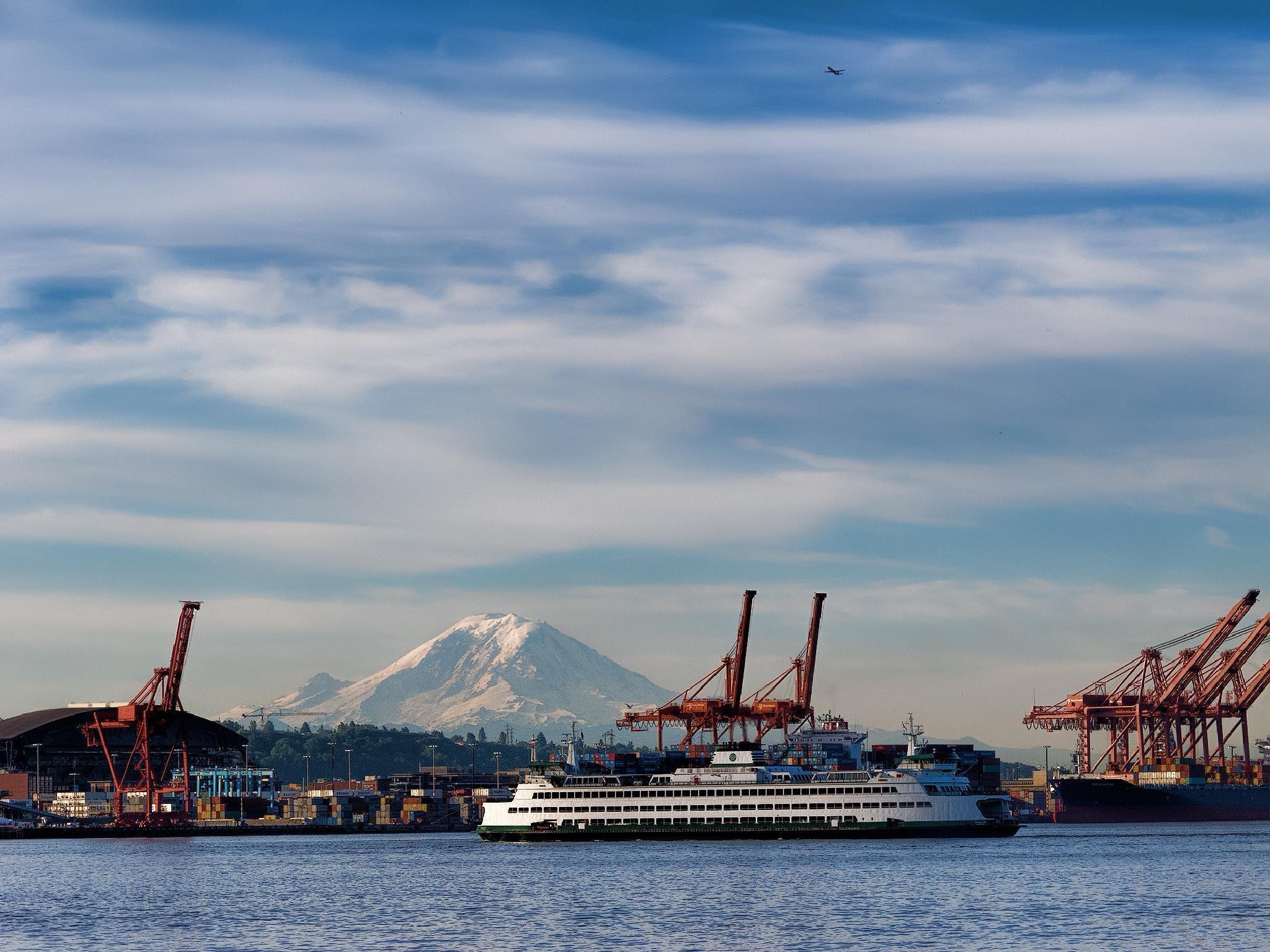 Seattle Harborscape by Herbert Stachelberger