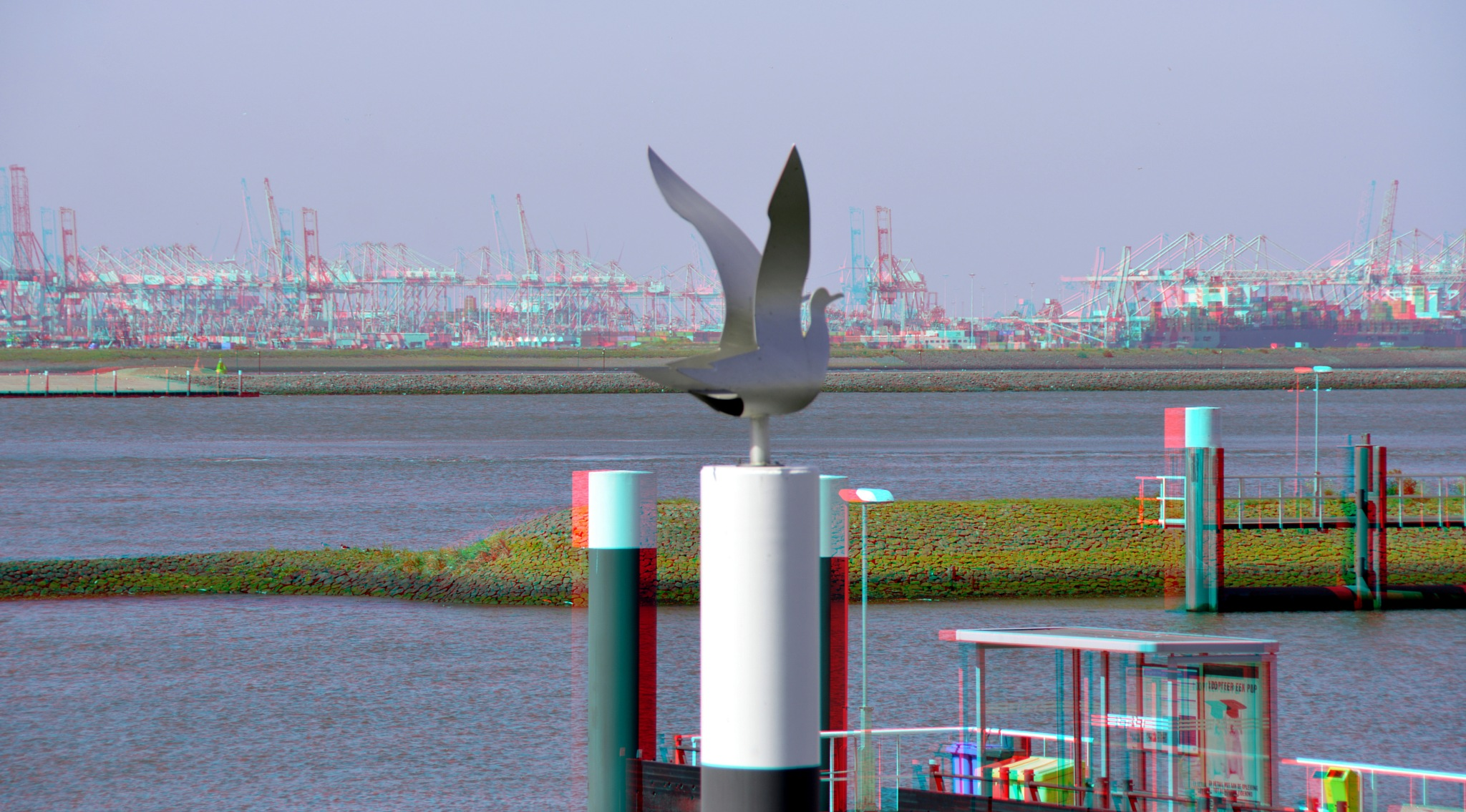 Nieuwe Waterweg bij Hoek van Holland 3D by Wim Hoppenbrouwers
