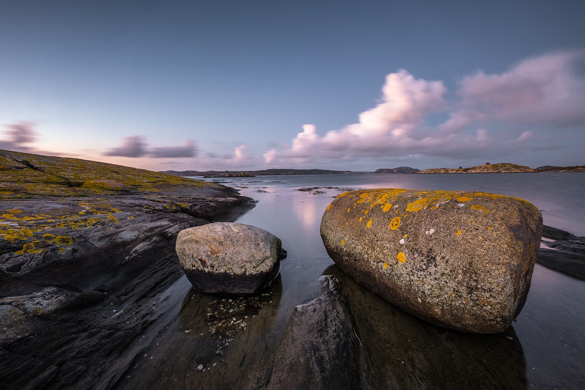 Rocks, Water and Sky by Ludwig Riml