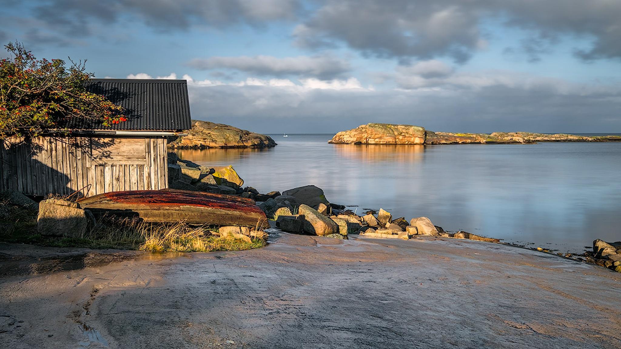 Fisherman`s Hut by Ludwig Riml