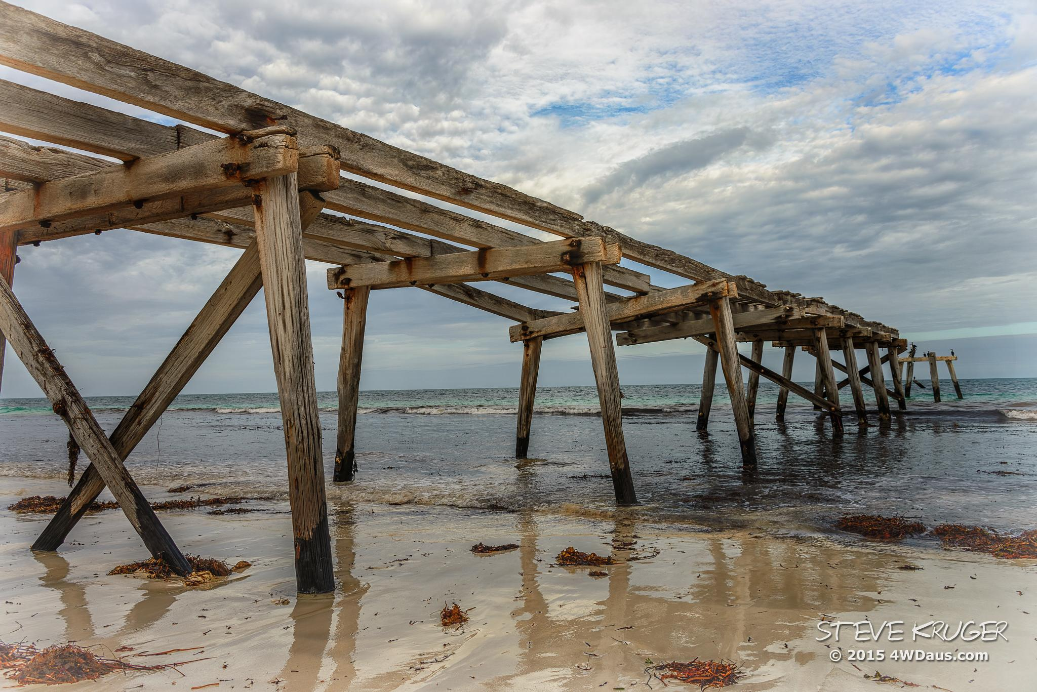 The Old Jetty at Eucla - Western Australia by Steve Kruger