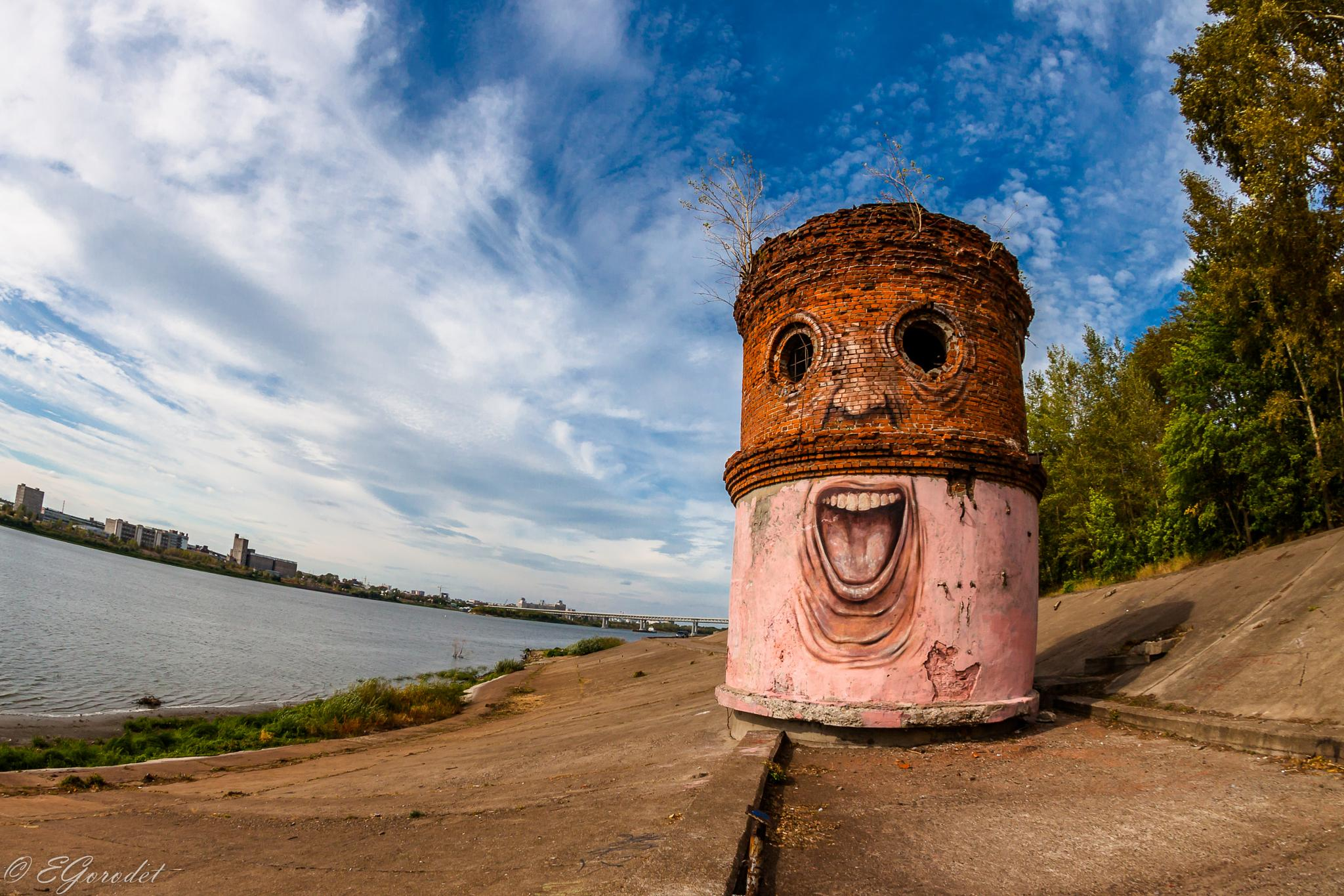 Laughing tower by Evgeny Gorodetsky