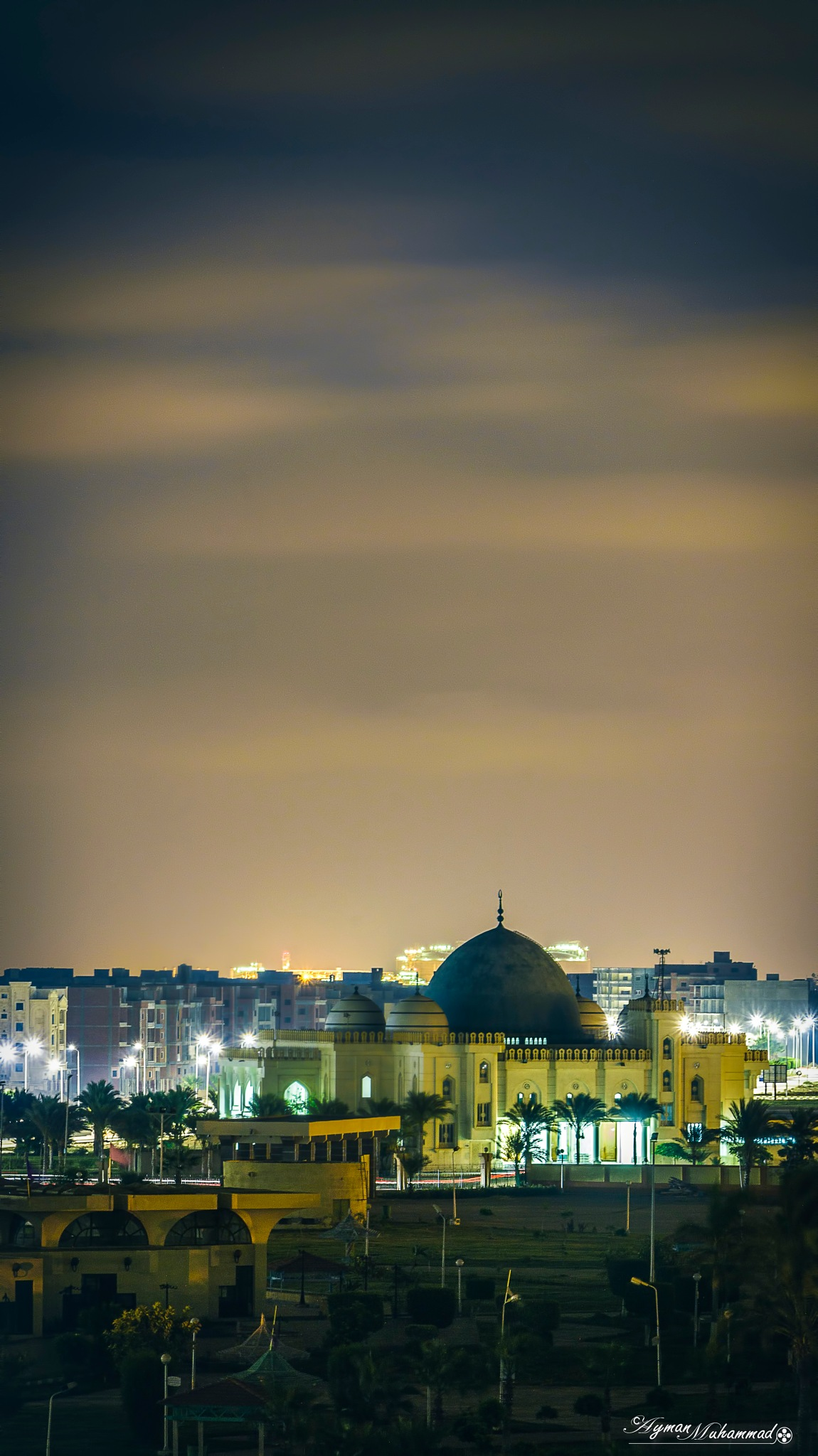 Sky motion above iconic Mosque  by AymanMuhammad