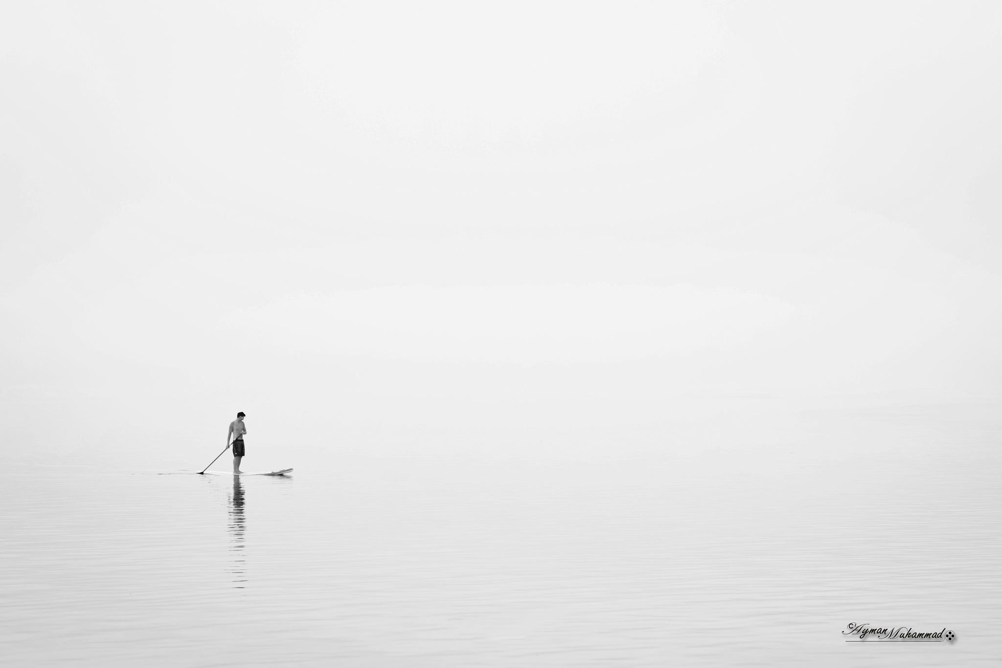 Lonely at big sea by AymanMuhammad