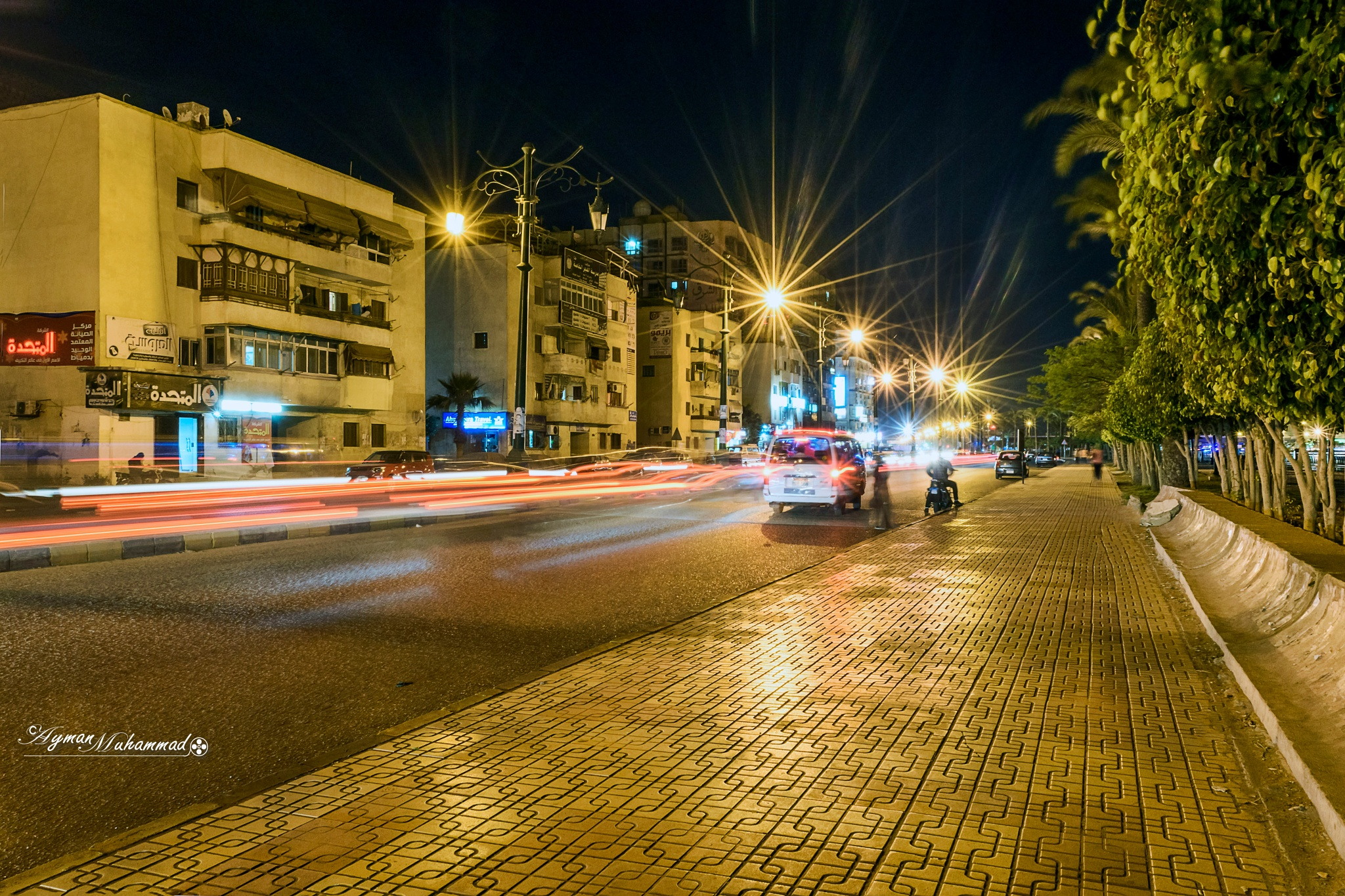 Streets of Damietta city at night  by AymanMuhammad