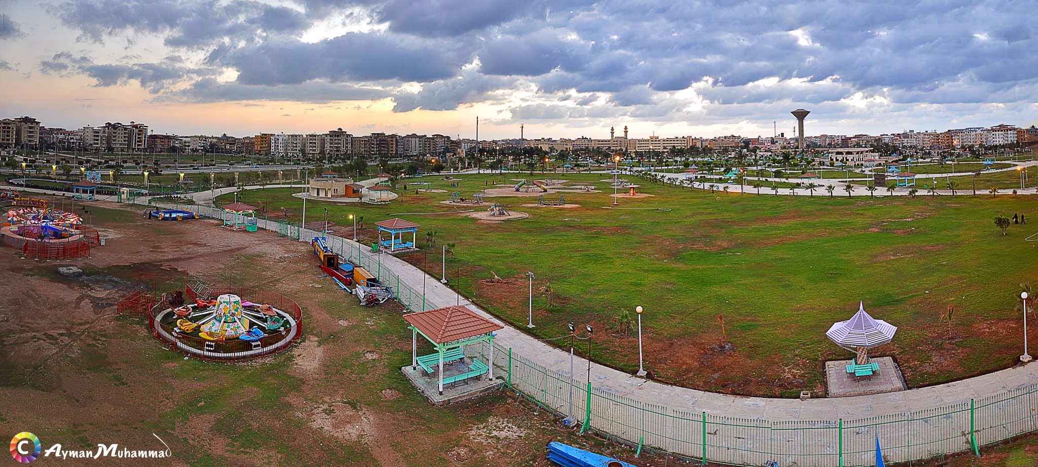 Garden Suset Panorama by AymanMuhammad