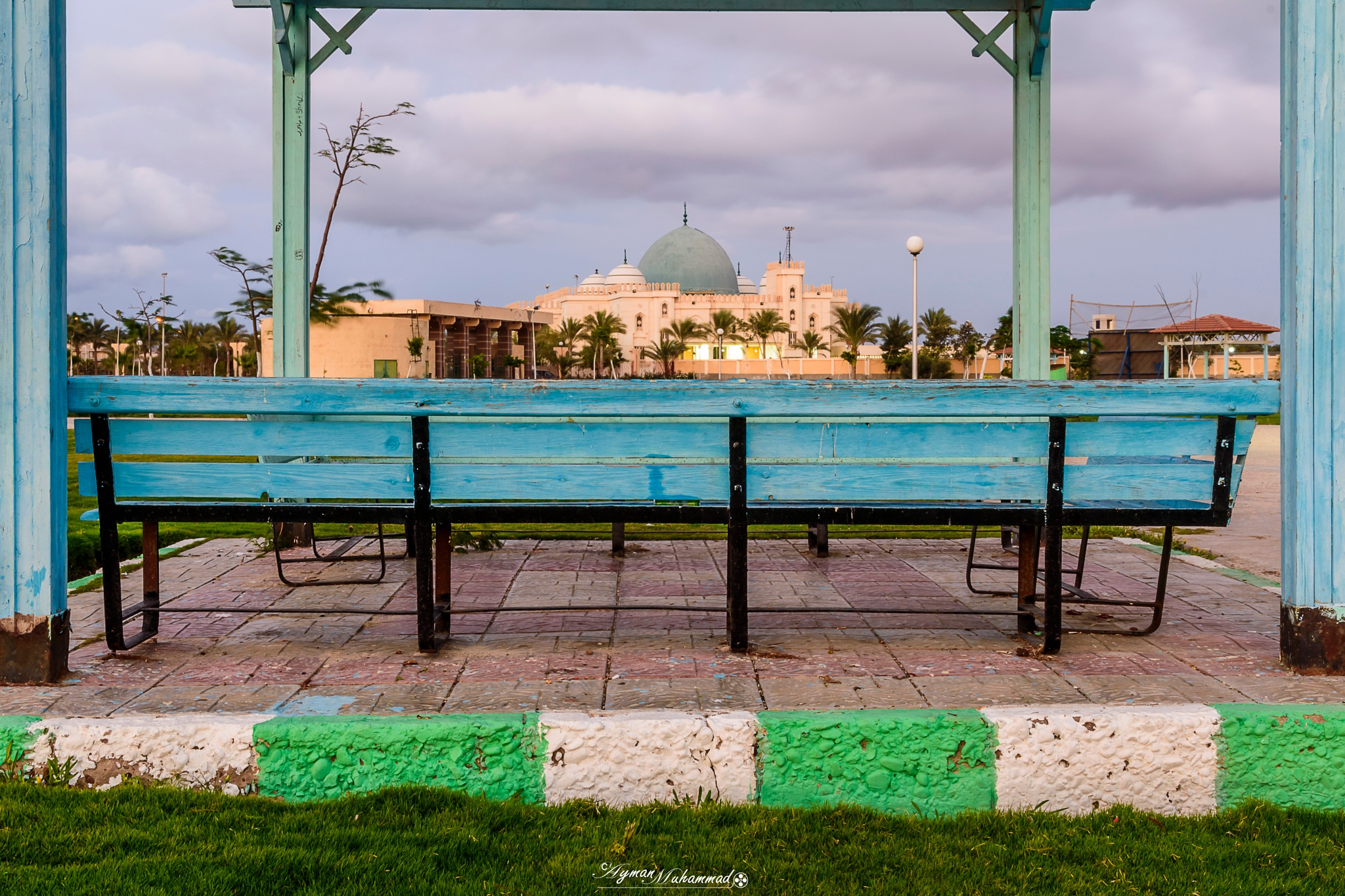 Garden view - Framed Mosque at winter day by AymanMuhammad