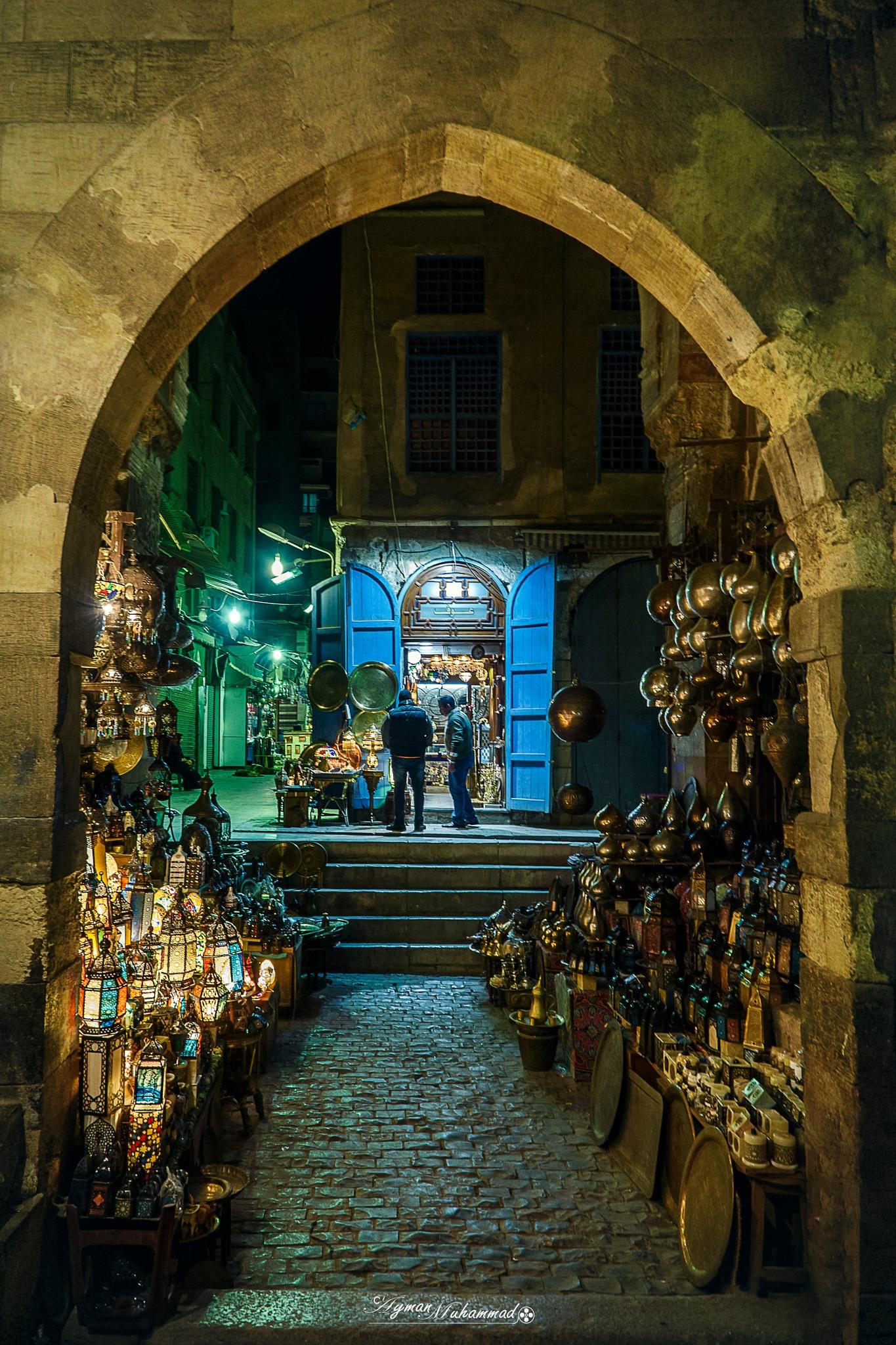 Framed Golden history at night by AymanMuhammad