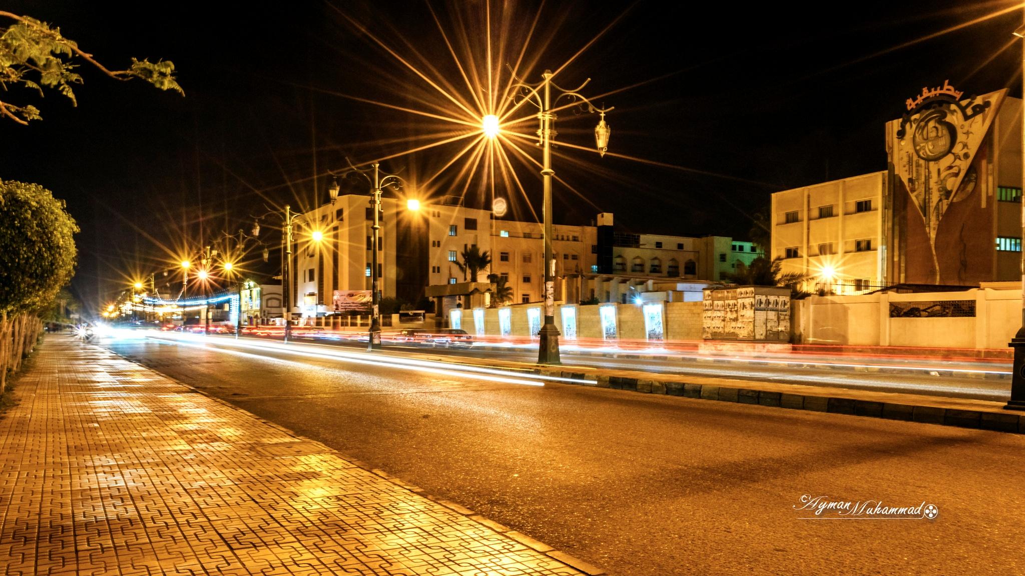 Streets of Damietta city at night +1 by AymanMuhammad