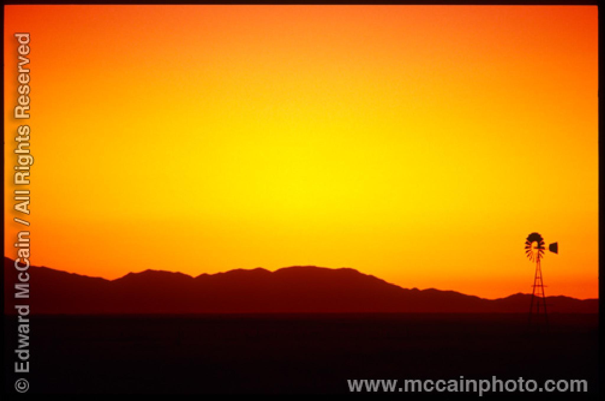 Windmill, Cochise County, Arizona by Edward McCain