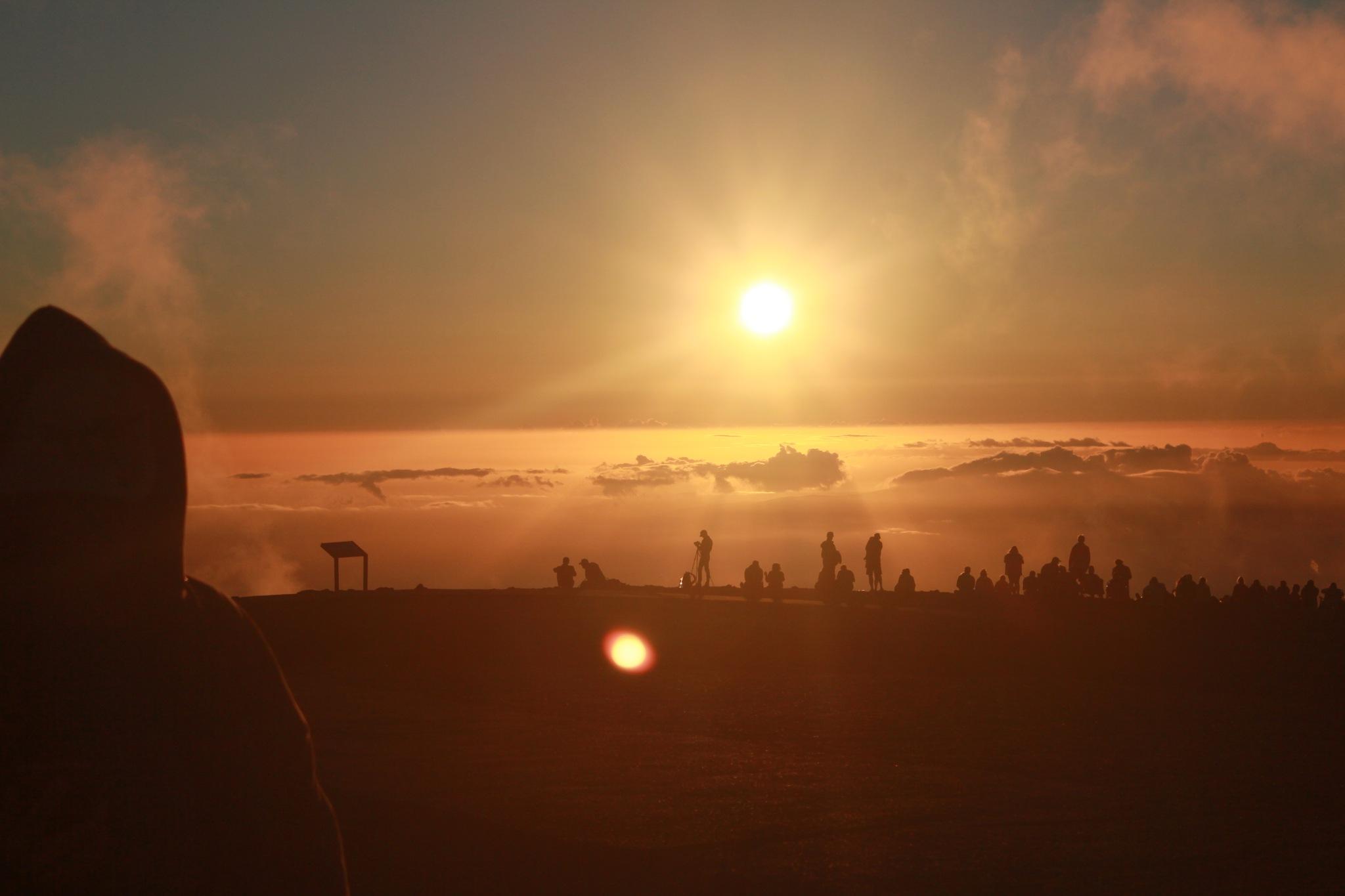 Sunset on top Haleakalā, Maui Hawaii. 10,000 ft Volcano...  by William Mason