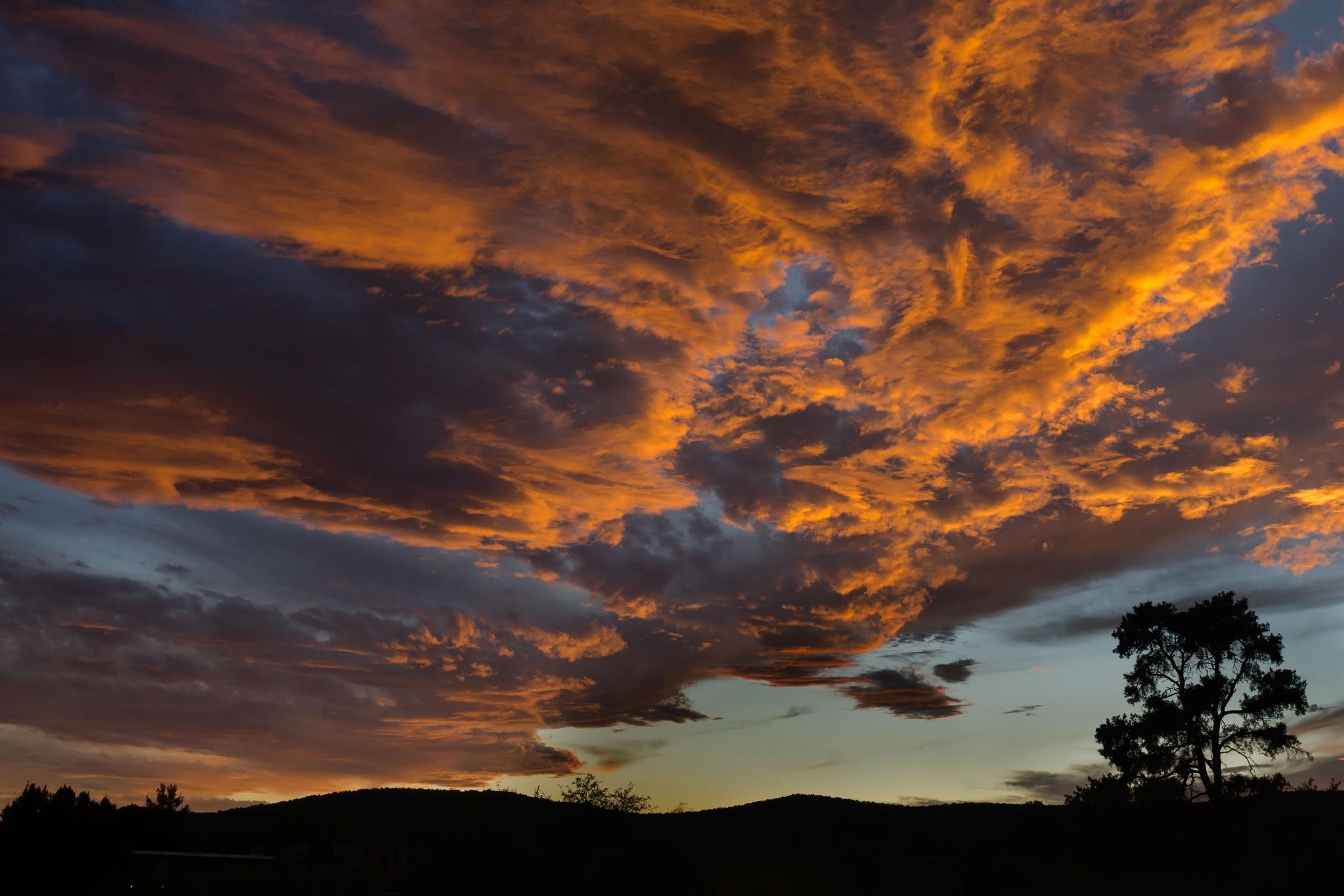 Runaway sunset over Sedona, AZ by John Mark Jennings
