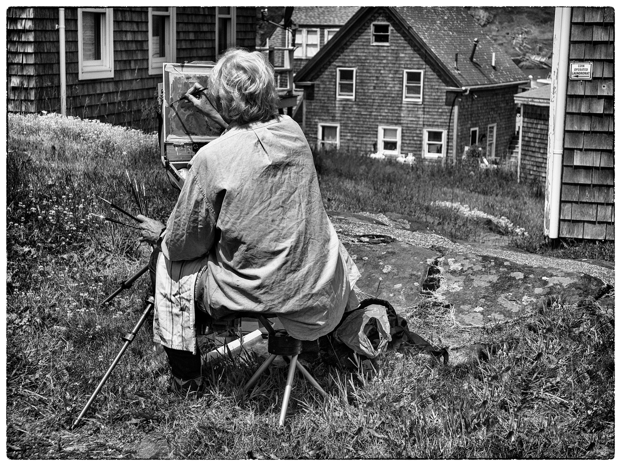 Artist, Tuesday Morning, Monhegan Island, Maine. June 2016 by Carol-Lynn Rössel