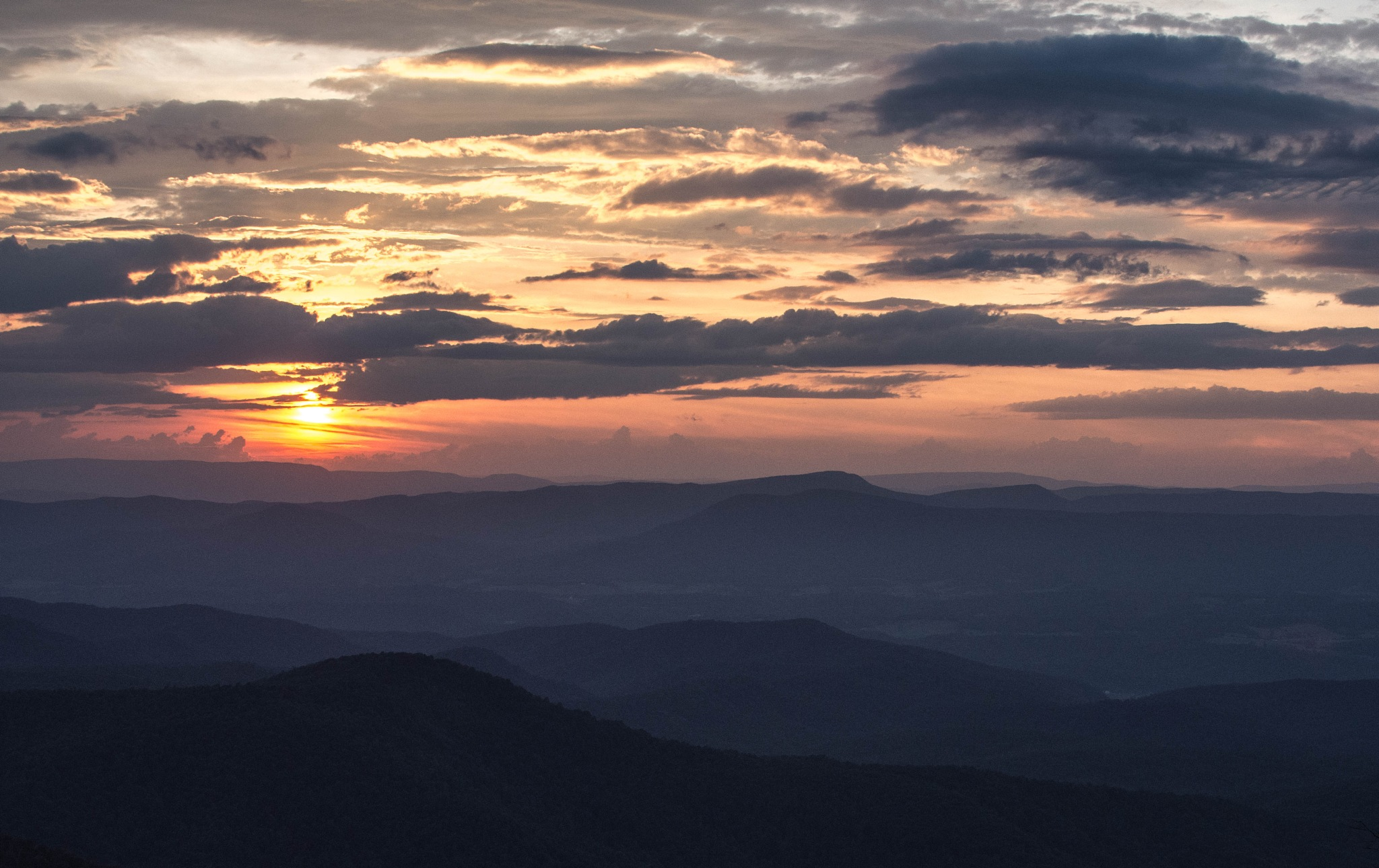 Arnold Valley Overlook Sunset by Paula Card