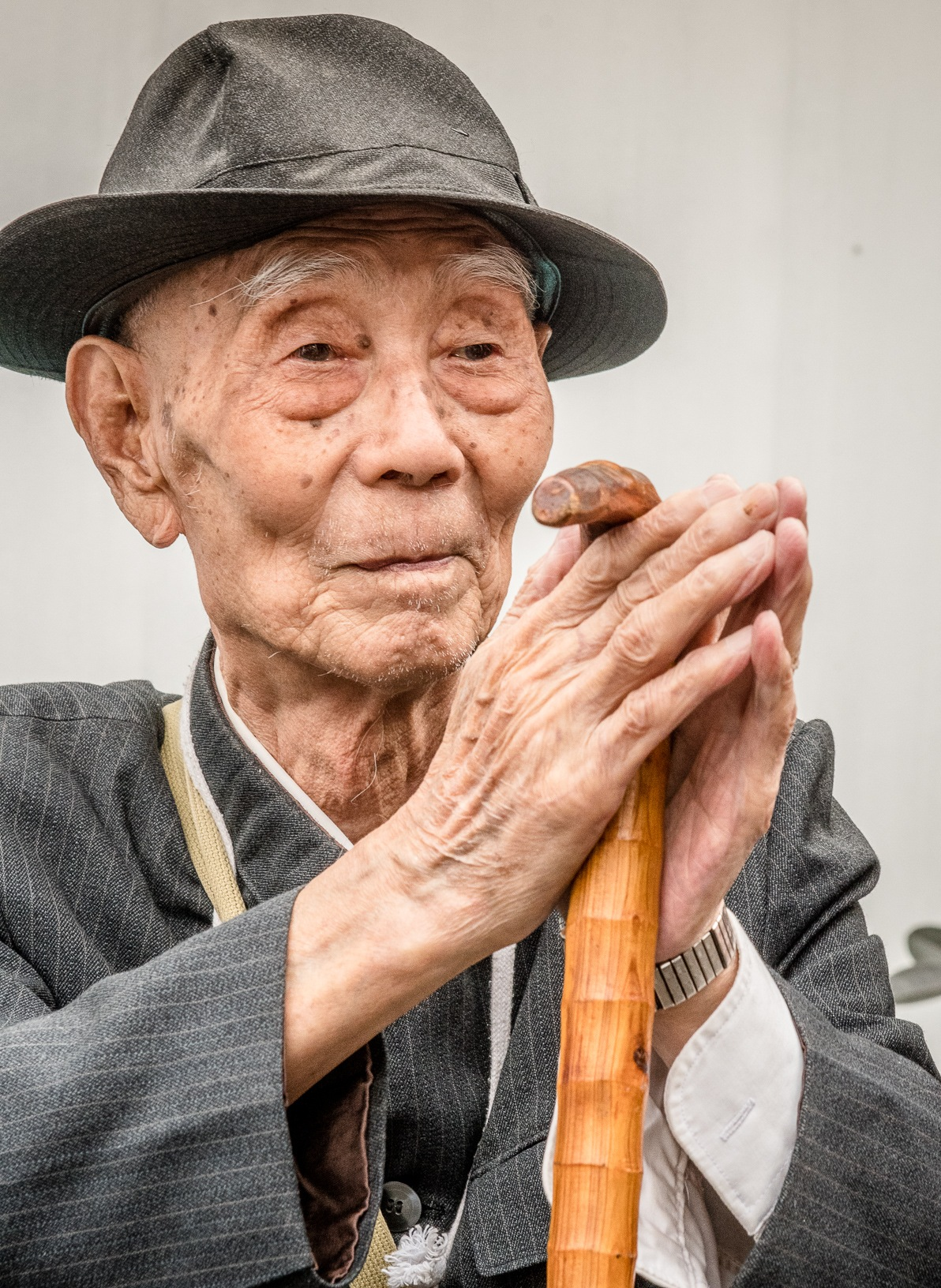 Chinese Elderly Gentleman  by Joseph L. Murphy