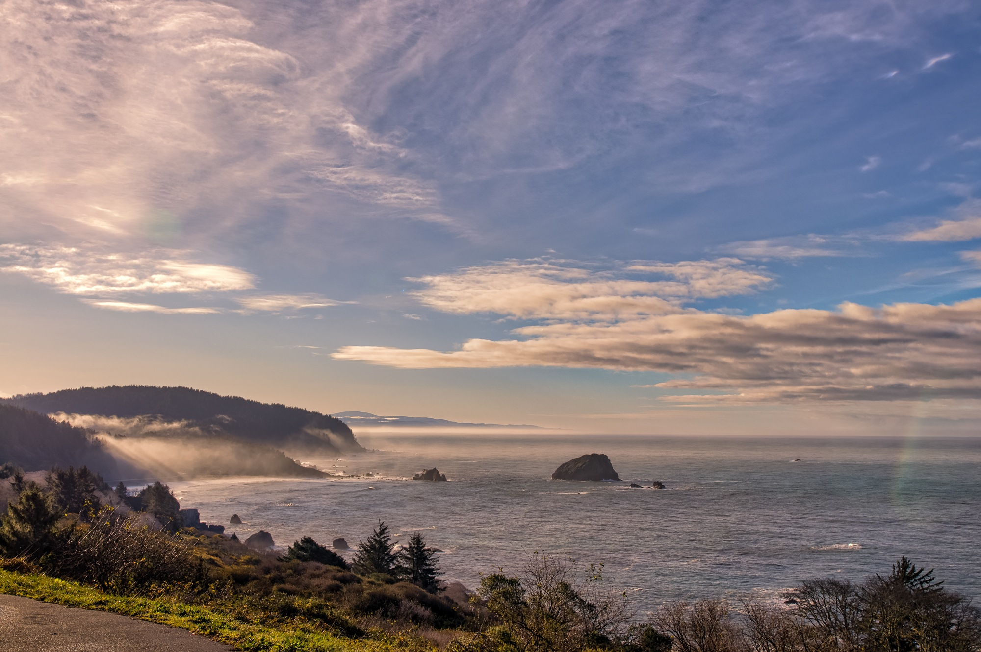 Sunrise on Highway 1 by David Weisbach