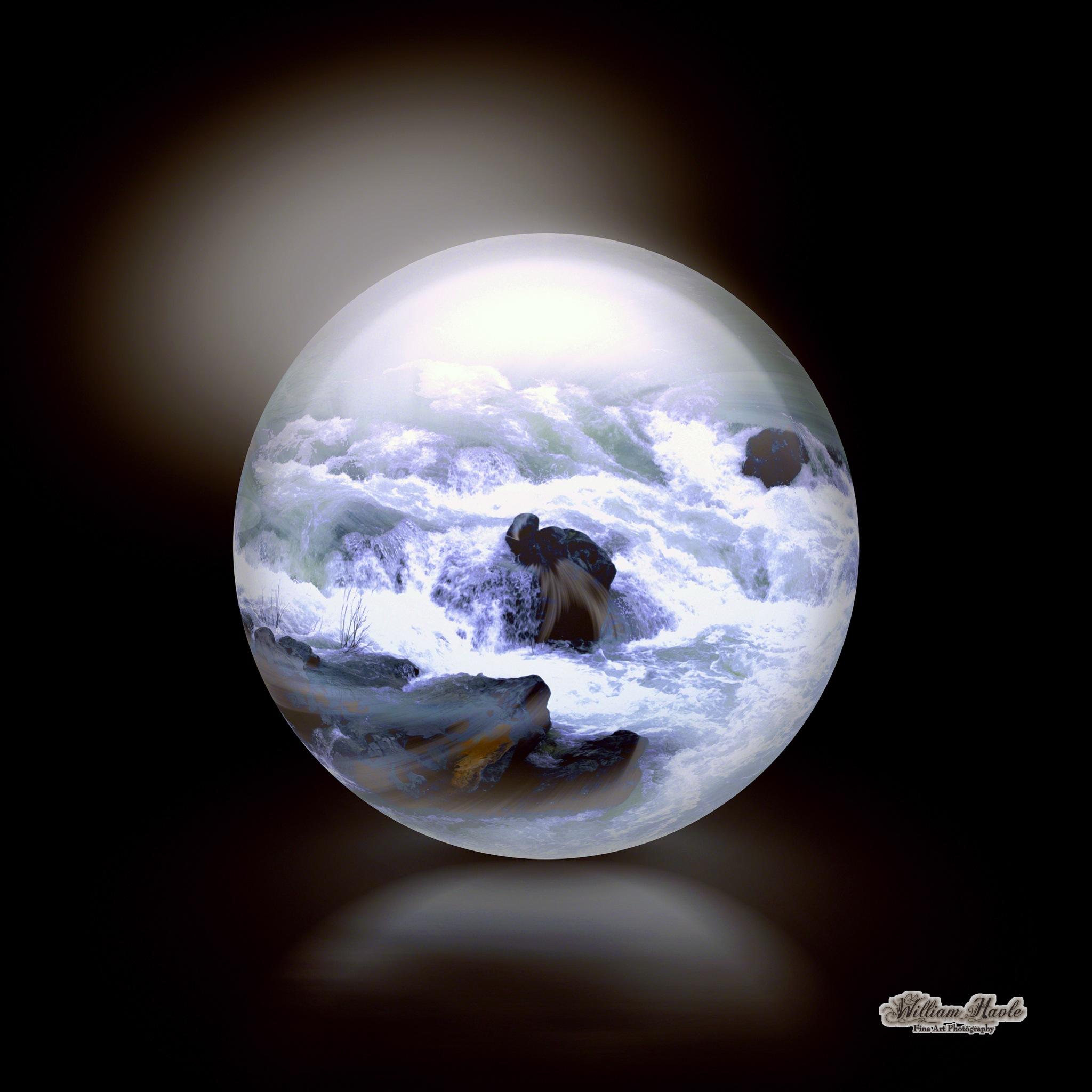 Sturring Waters Sphere by Bill Havle