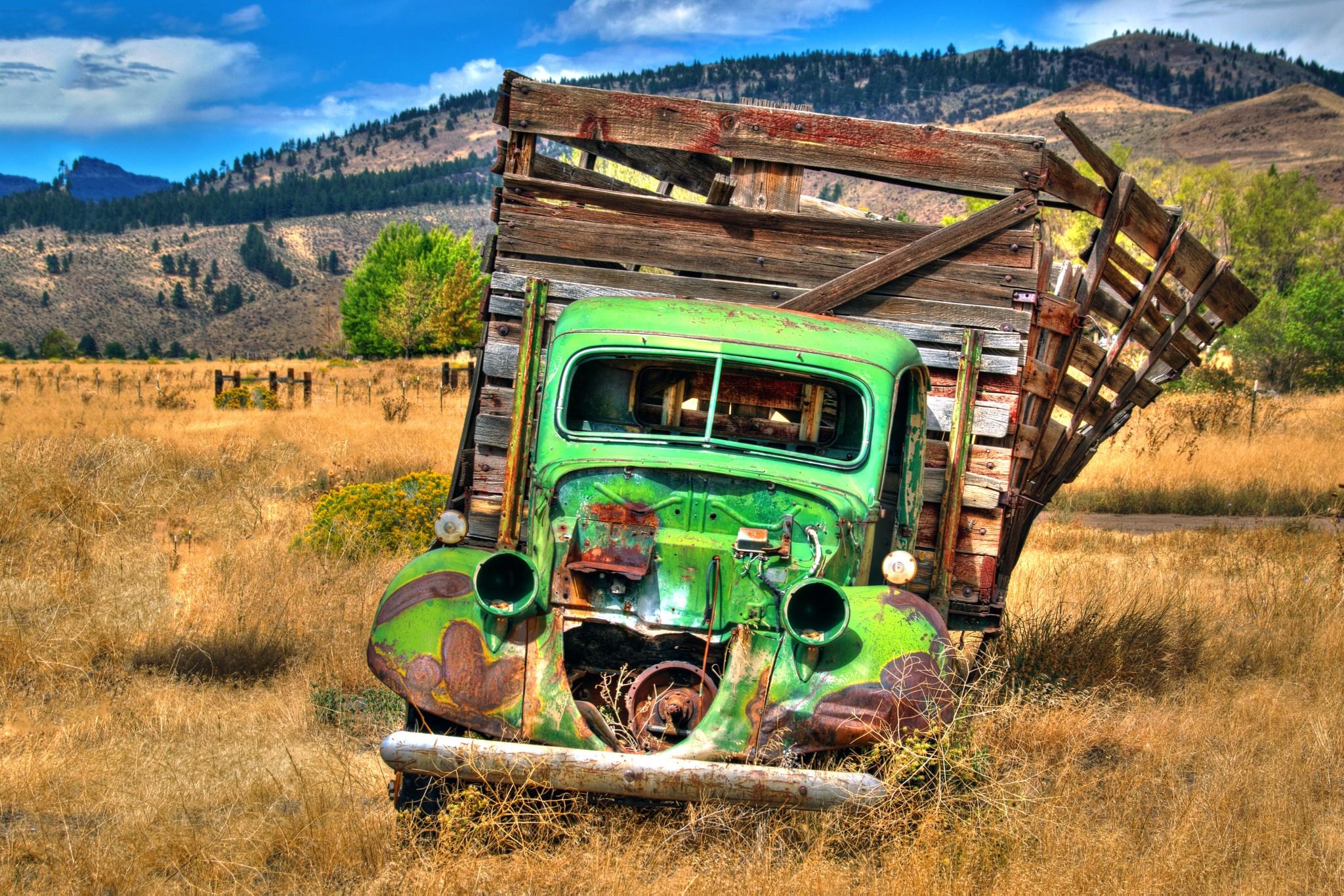Green Reno Truck by Bill Havle