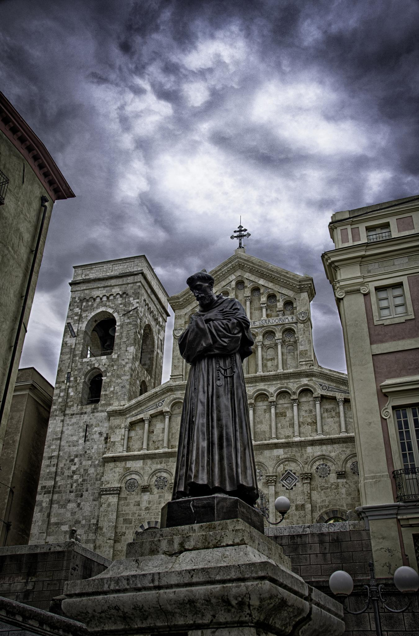 The saint, the cathedral and the clouds by Dr. weird